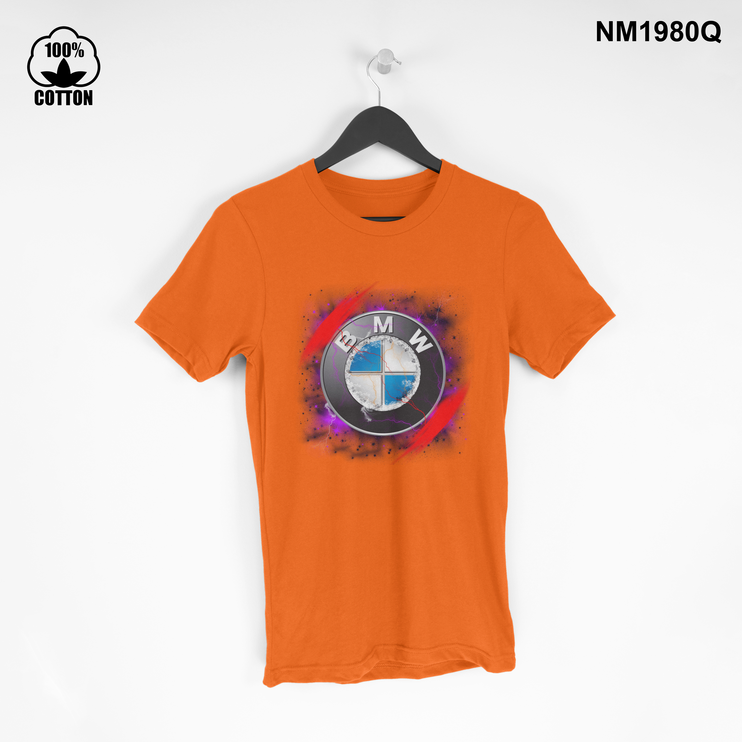 1.47 Rare Iitem BMW space New Design T Shirt Tee Unisex orange.jpg