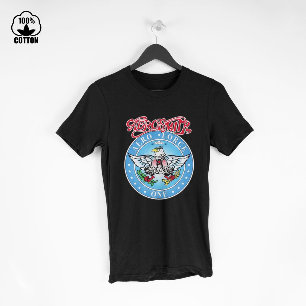 LIMITED EDITION!! Aerosmith on Twitter Who remembers this Aero Force One logo T Shirt Tee Black.jpg