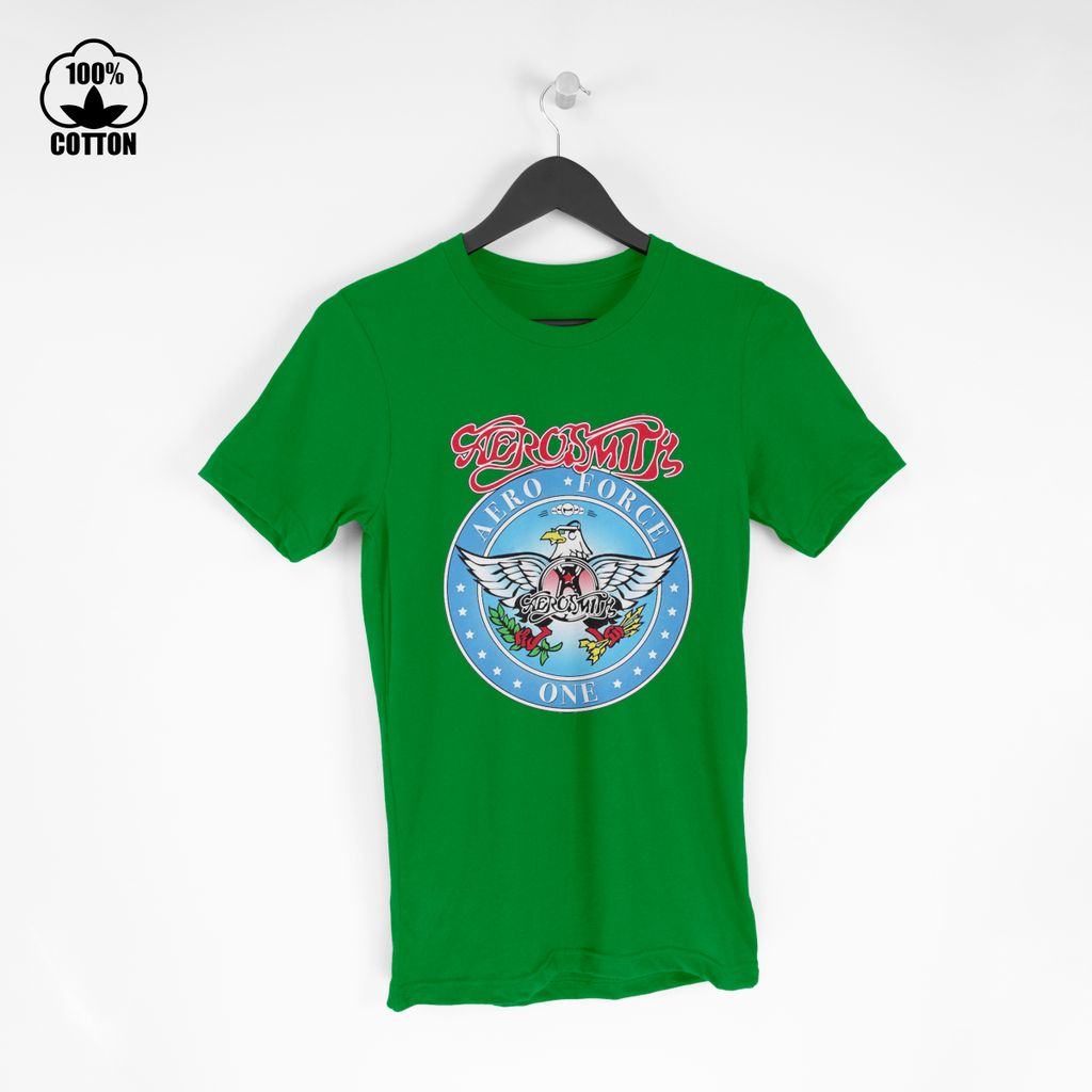 LIMITED EDITION!! Aerosmith on Twitter Who remembers this Aero Force One logo T Shirt Tee Spring green.jpg