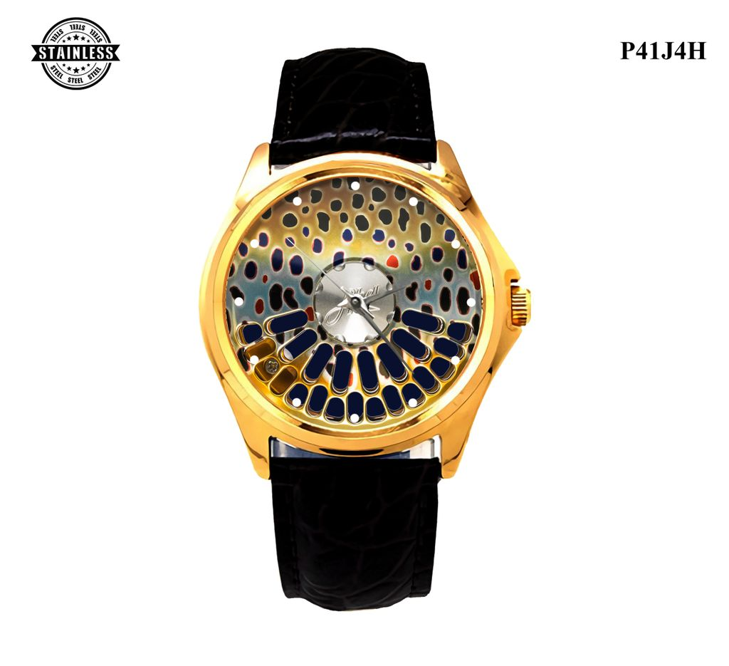 LIMITED EDITION!! Abel TR - Native Brown Trout Finish Sport Metal Watch BEST GIVE b.jpg