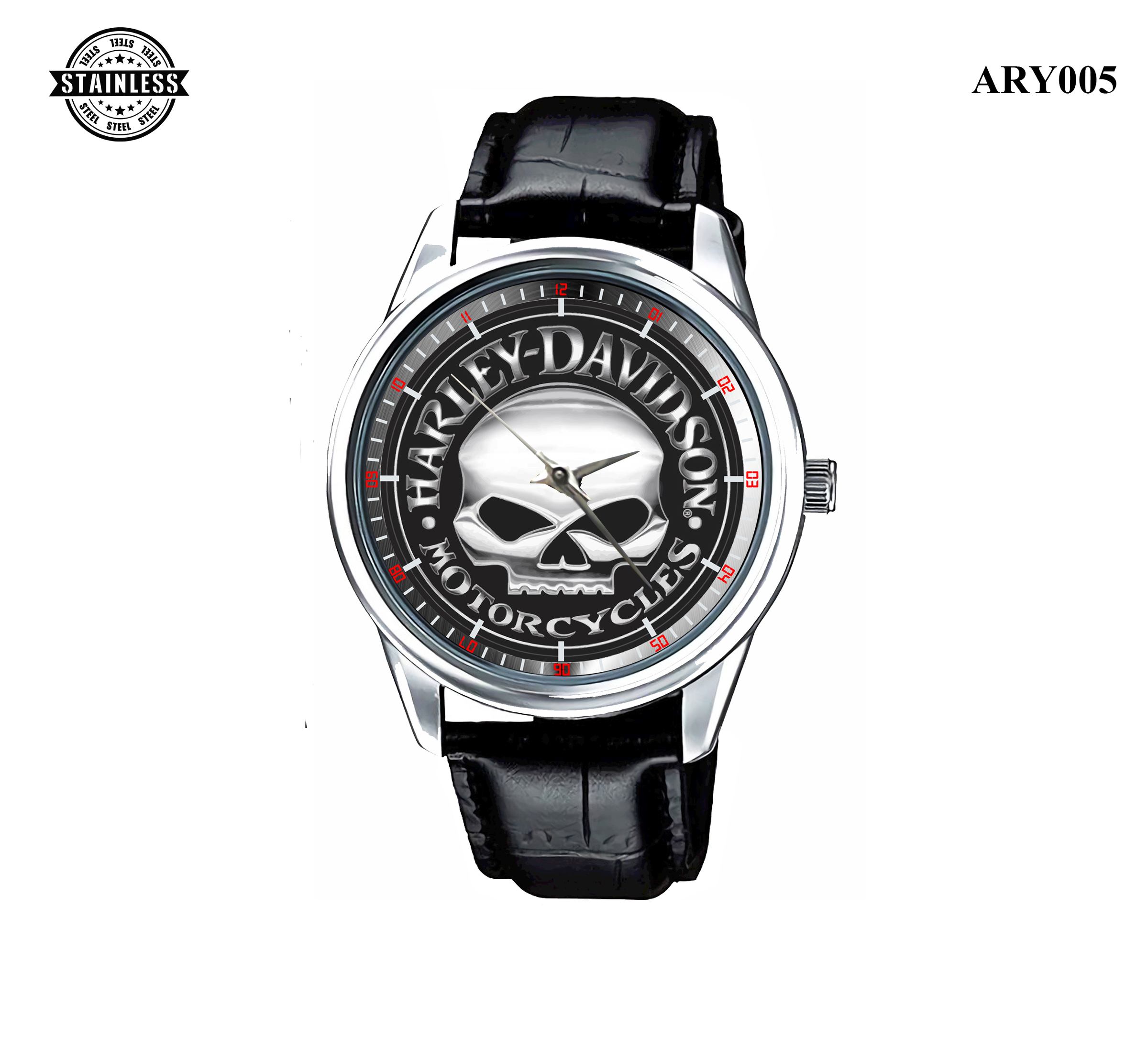 3.Limited! Vintage Harley Davidson_Motor Cycles_Sport Metal Watch.jpg