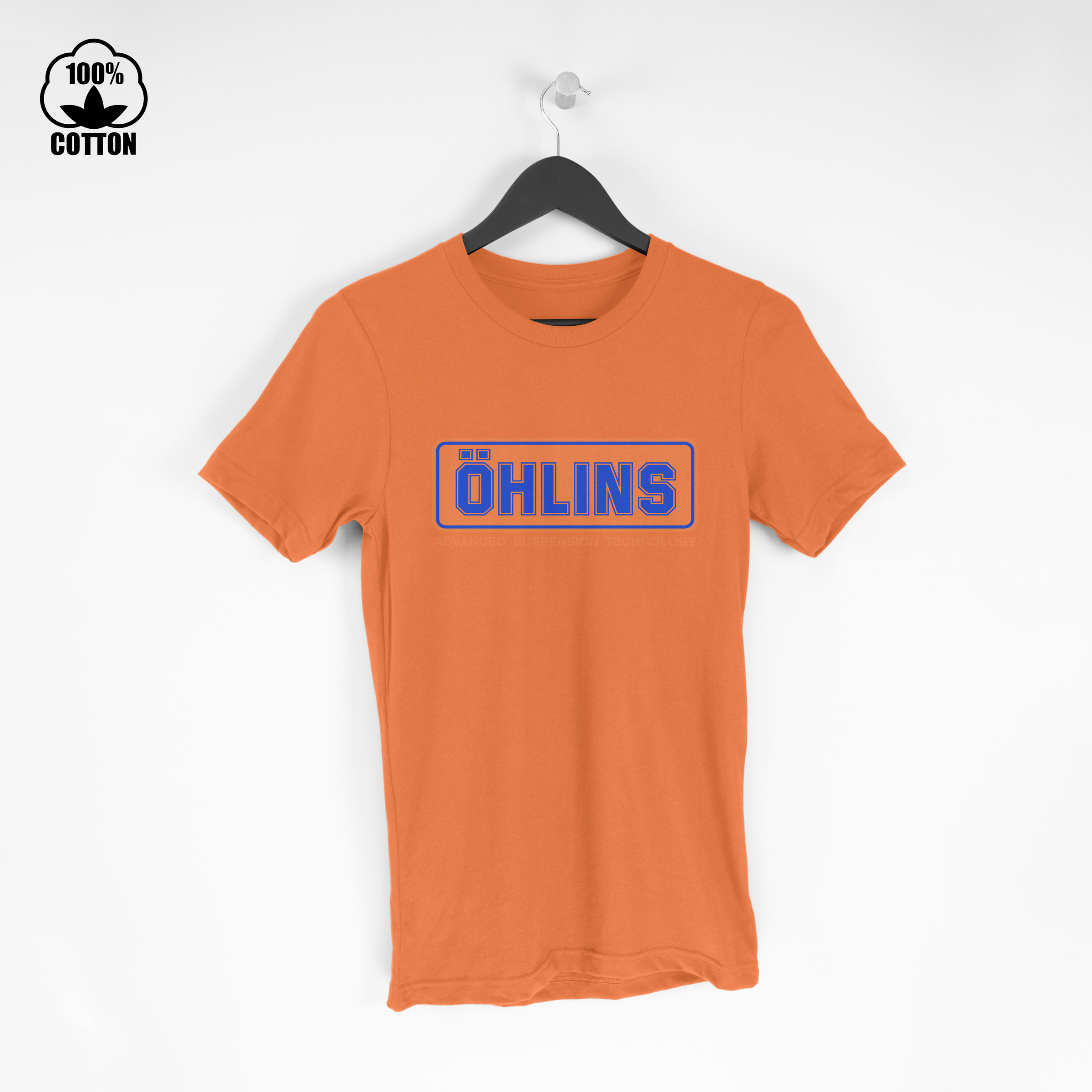 Ohlins Shock Suspension Logo Tee Size S-XXL USA Chocolate.jpg
