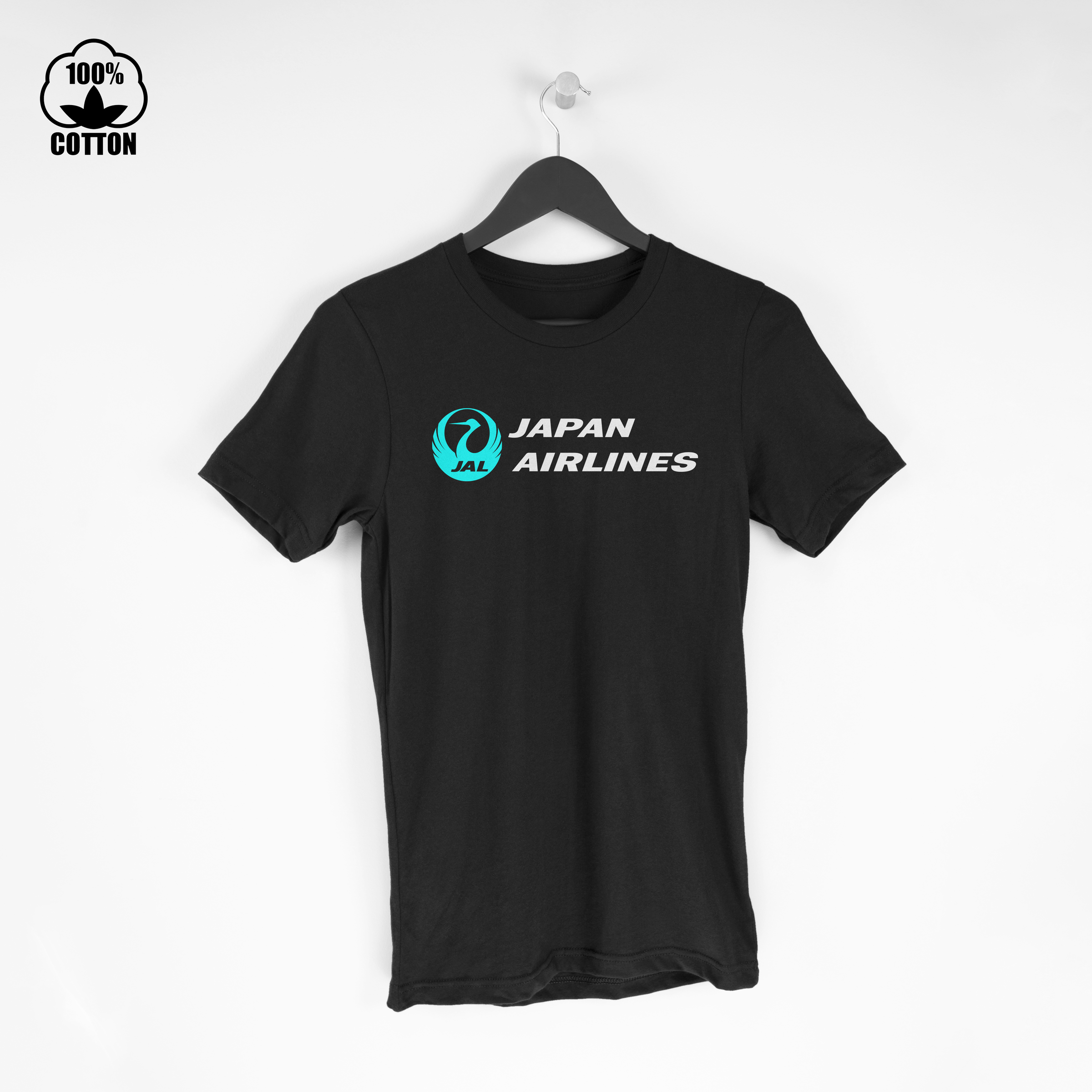JAL Japan Airlines Shirt Retro Vintage Logo  Tee Size S-XXL USA E Black.jpg