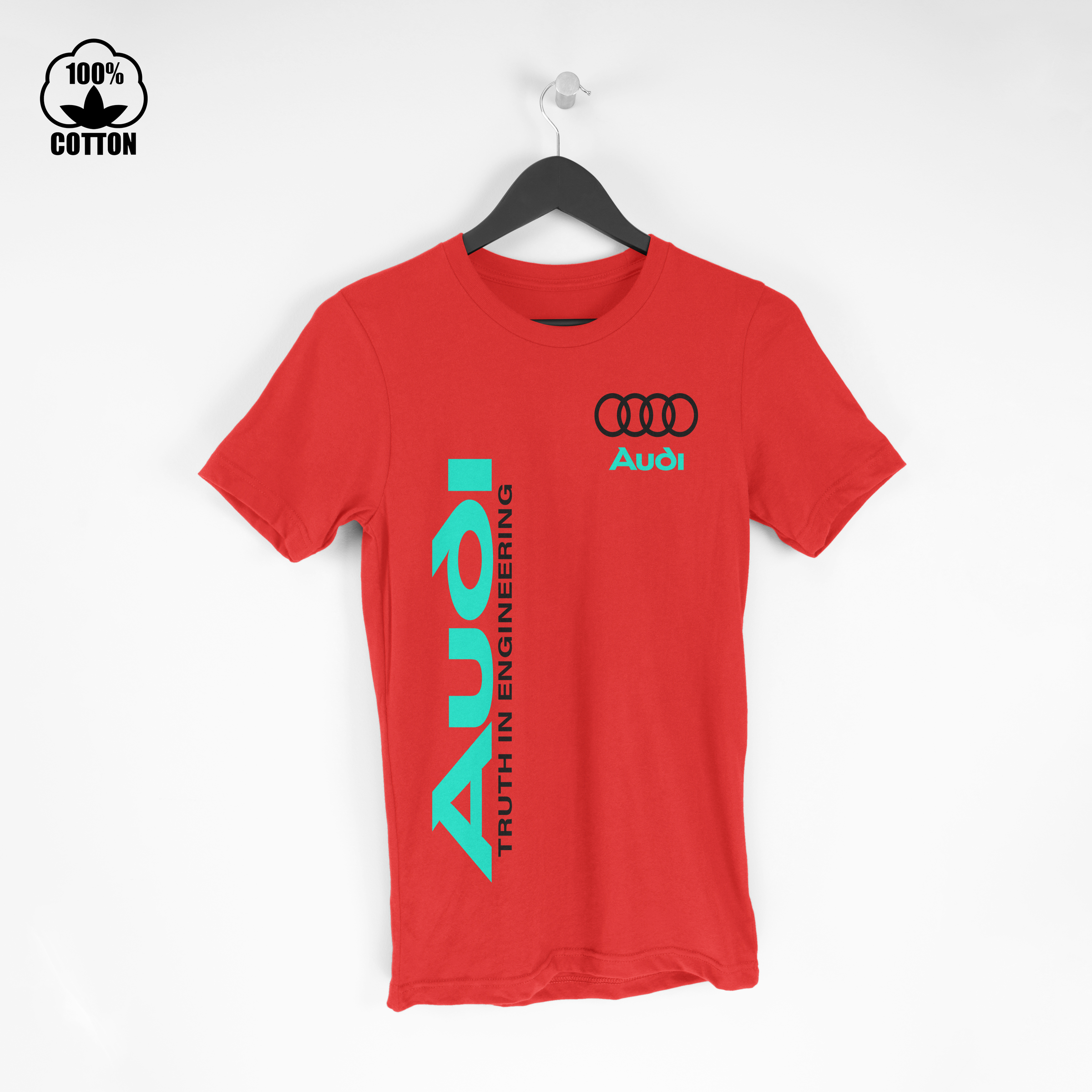 Audi Truth In Engineering Logo Sport Mens T-Shirt Tee Size S-XXL USA Crimson.jpg