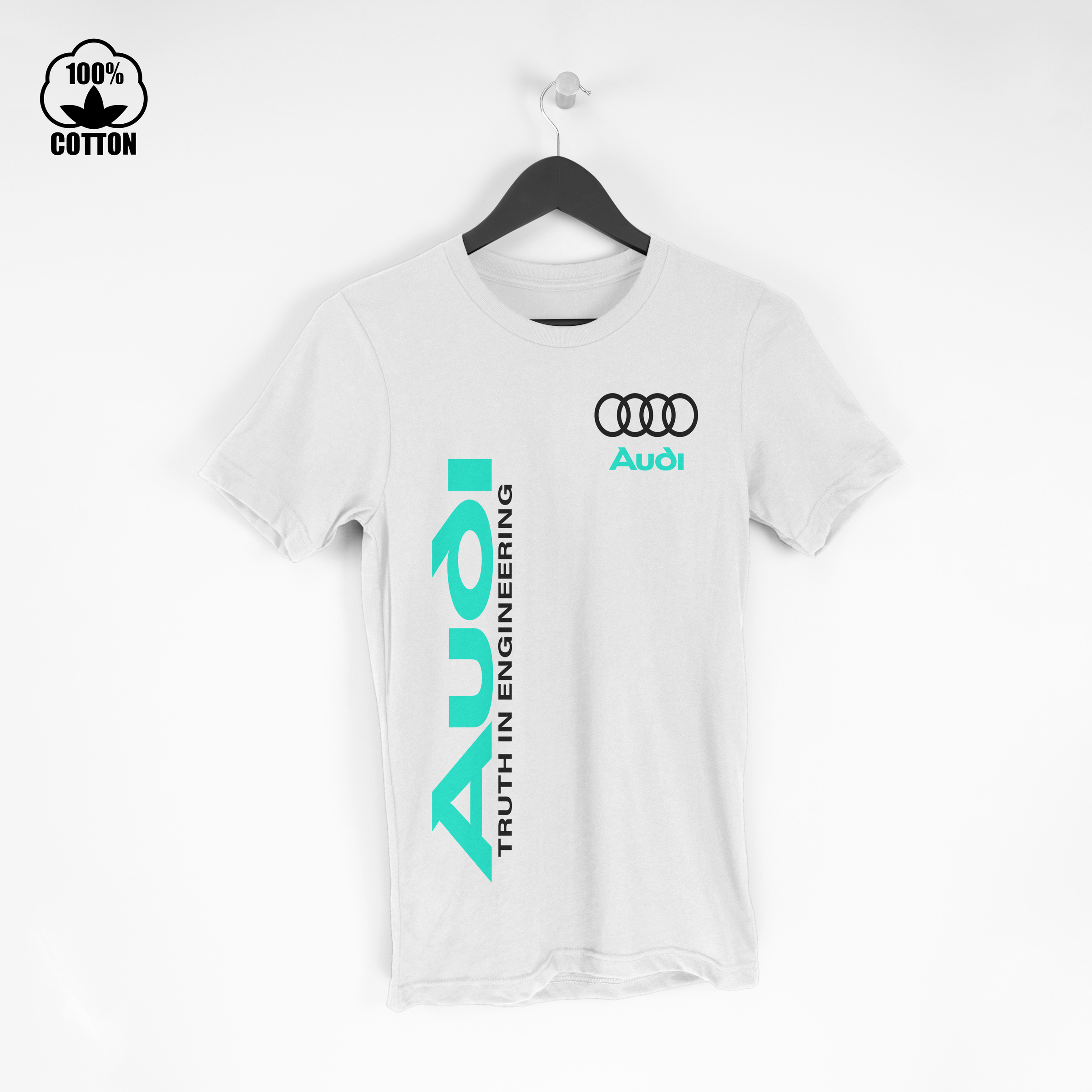 Audi Truth In Engineering Logo Sport Mens T-Shirt Tee Size S-XXL USA White.jpg