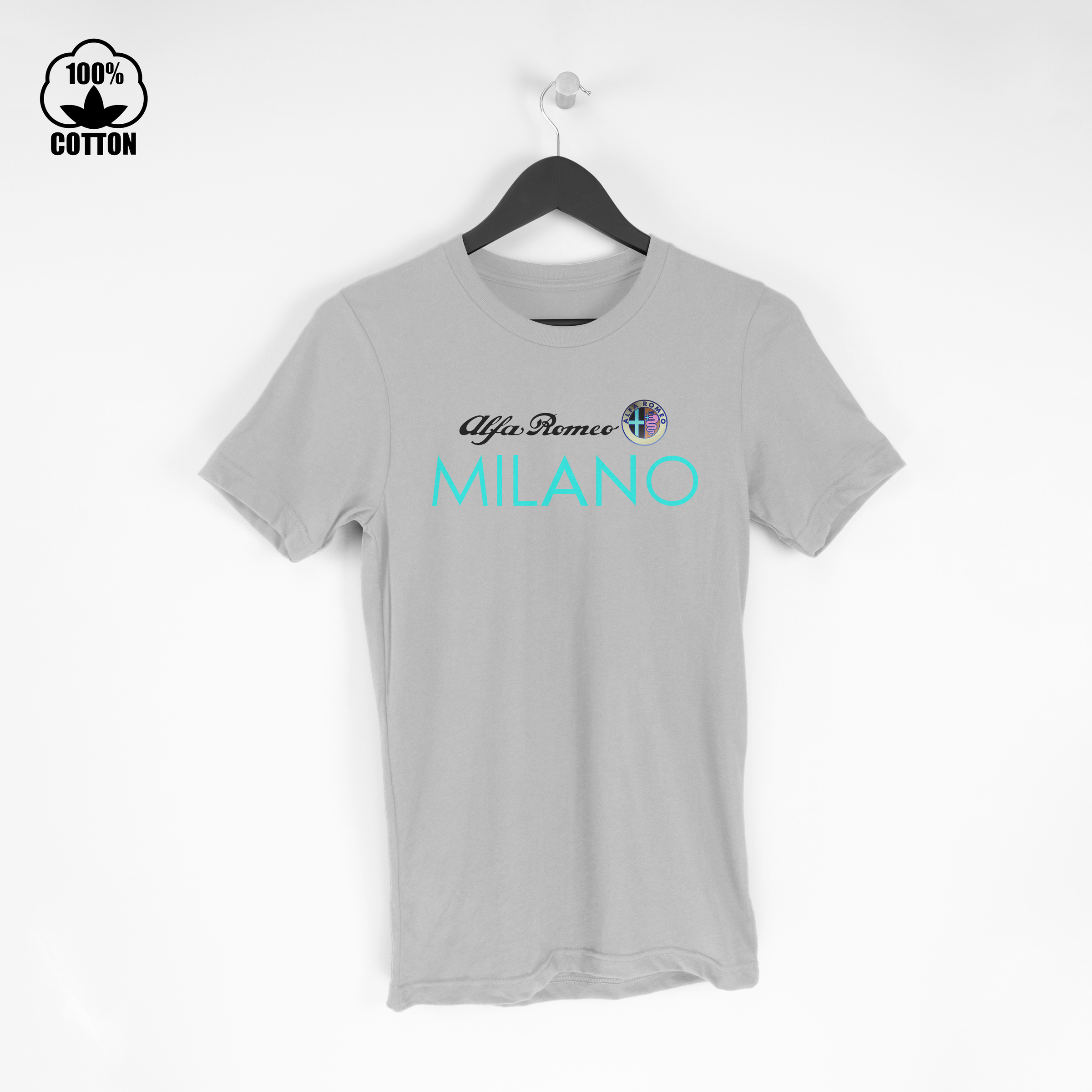Alfa Romeo Shirt Milano Logo Tee Mens Clothing New Cotton Tshirt Size S-XXL USA  Gainsboro.jpg