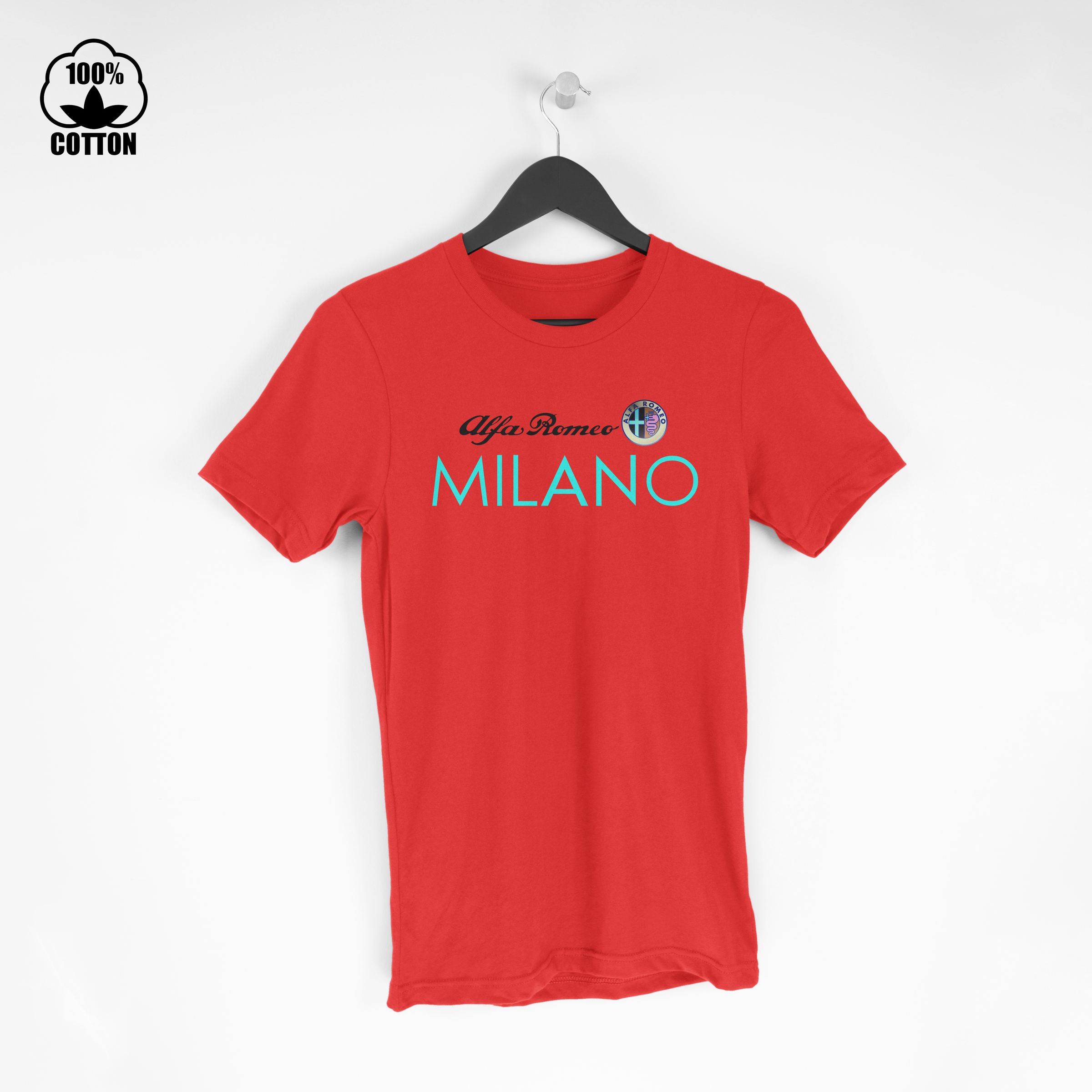 Alfa Romeo Shirt Milano Logo Tee Mens Clothing New Cotton Tshirt Size S-XXL USA Crimson1.jpg