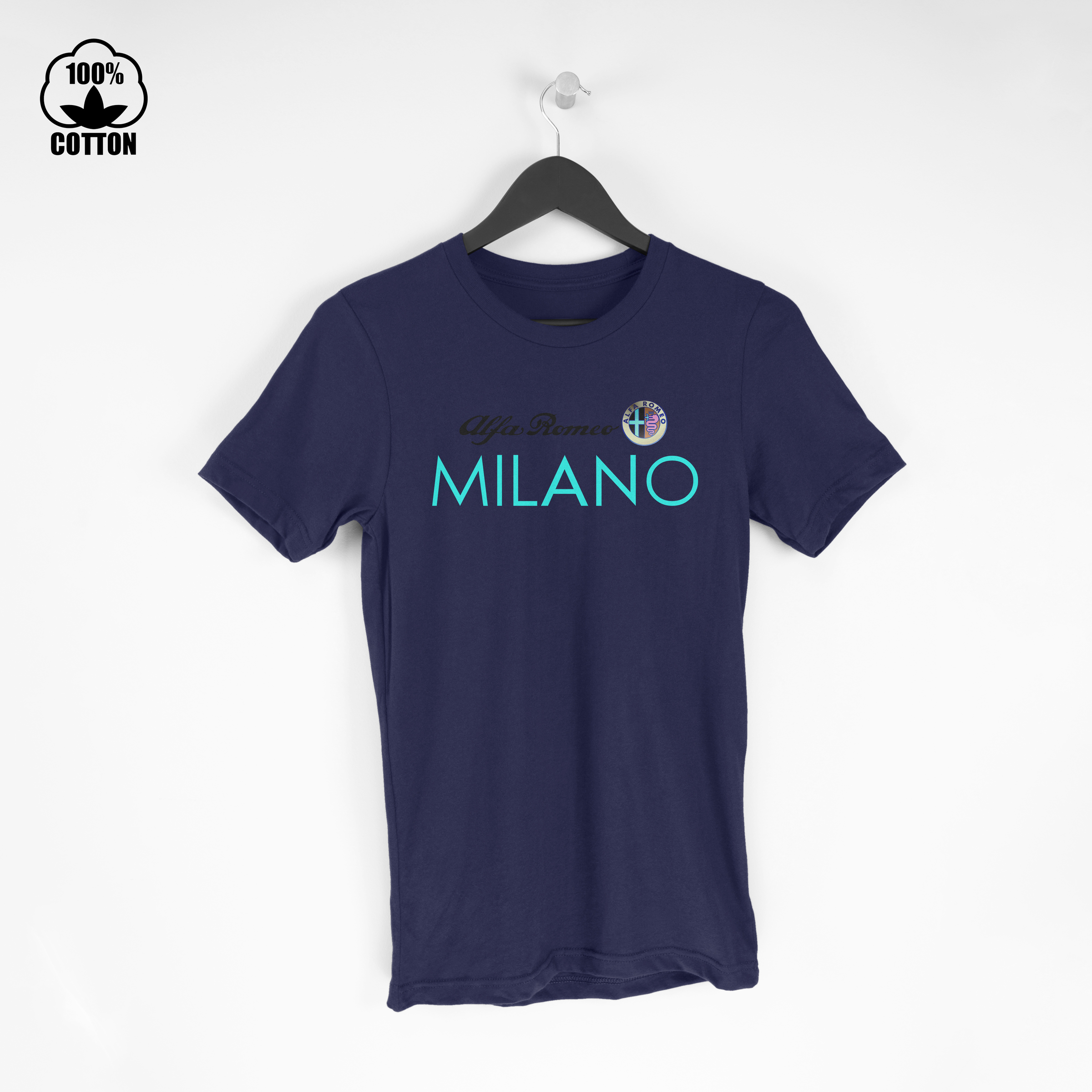 Alfa Romeo Shirt Milano Logo Tee Mens Clothing New Cotton Tshirt Size S-XXL USA MidnightBlue.jpg