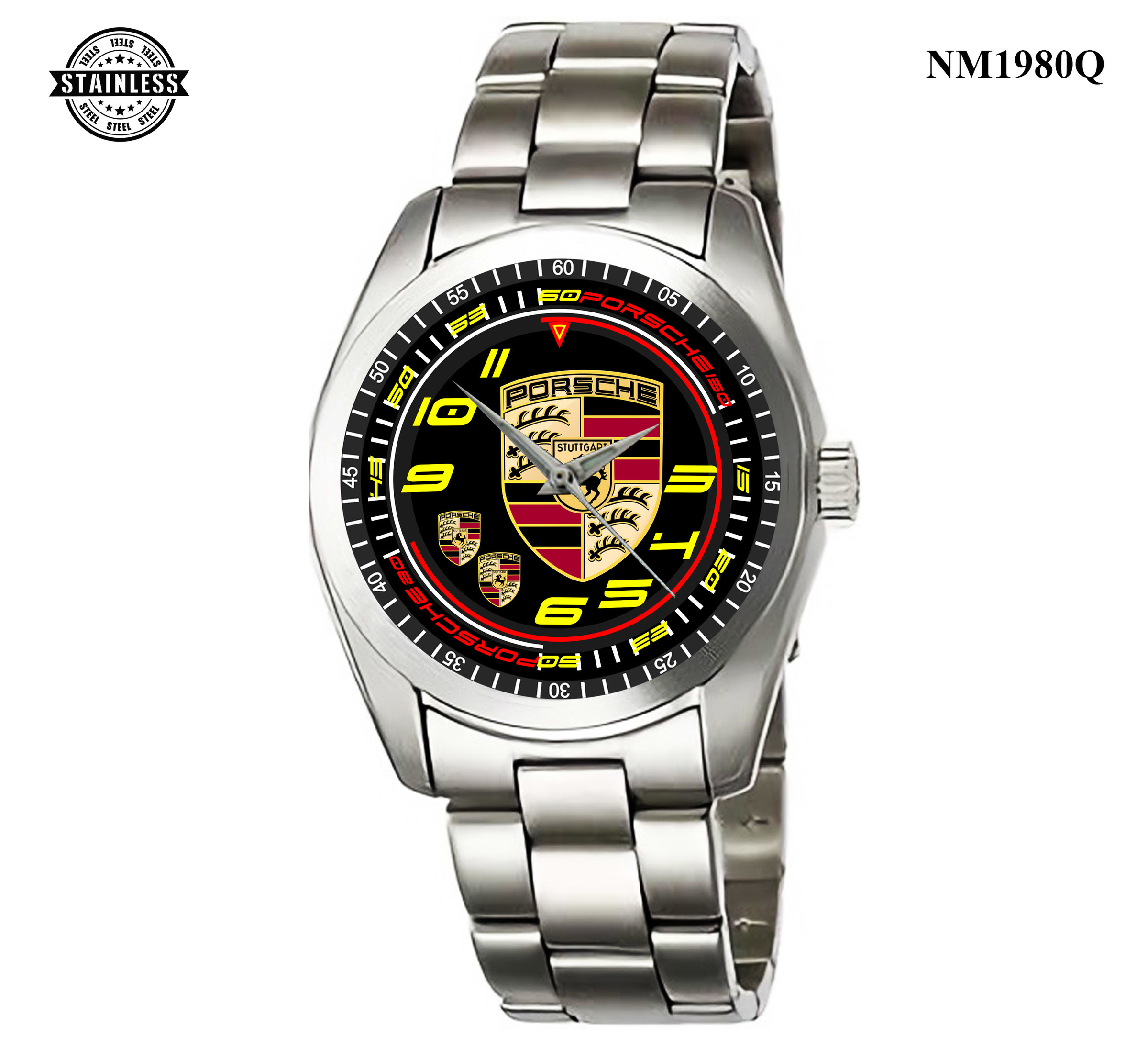1.12 New Design Mens Jewelery porsche Logo Sport All Series Sport Metal Watch.jpg