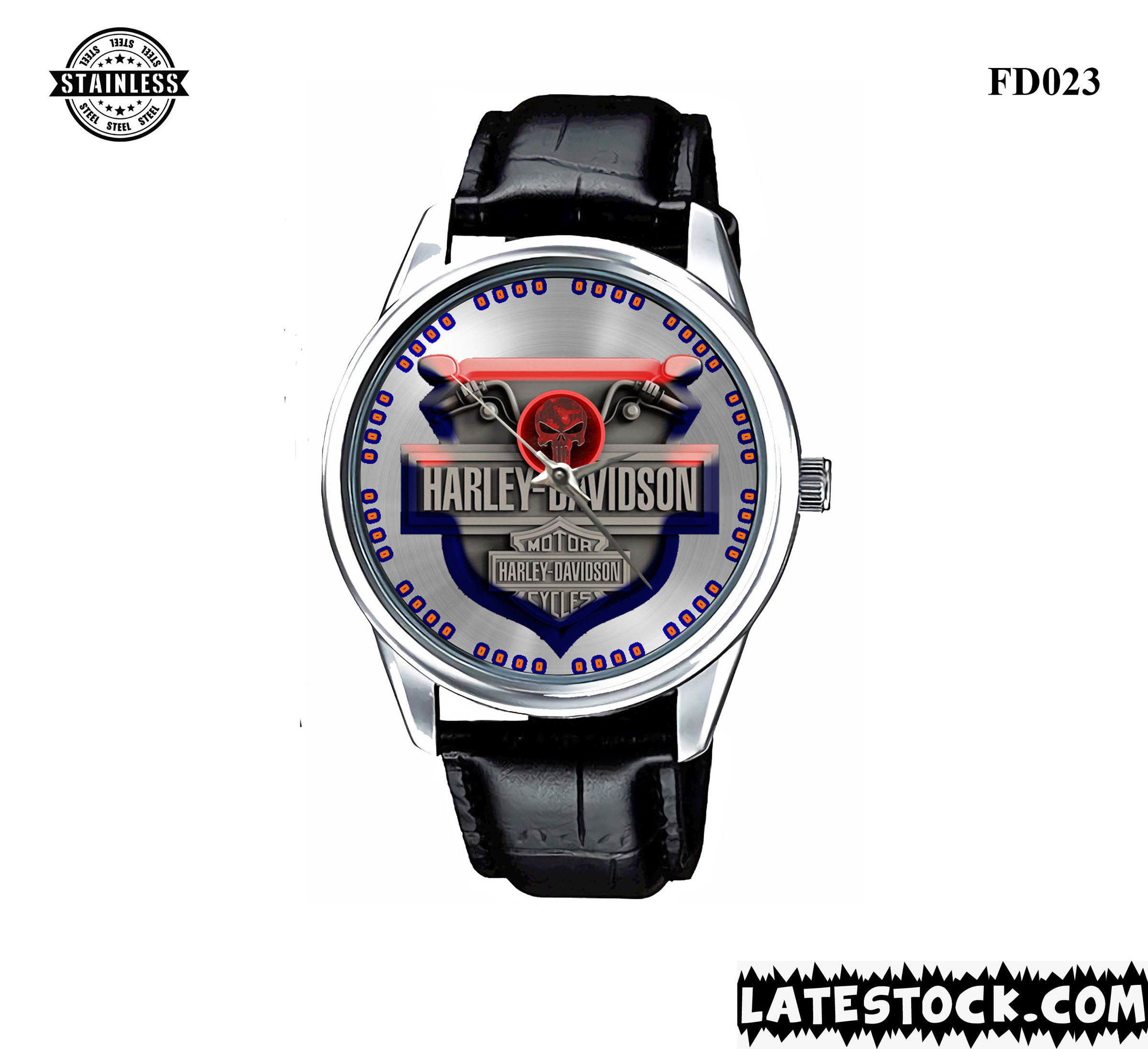 LIMITED EDITION !!! NEW HARLEY-DAVIDSON-MOTORCYCLE-LOGO-SPORT-METAL-WATCHES LEATHER BAND.jpg