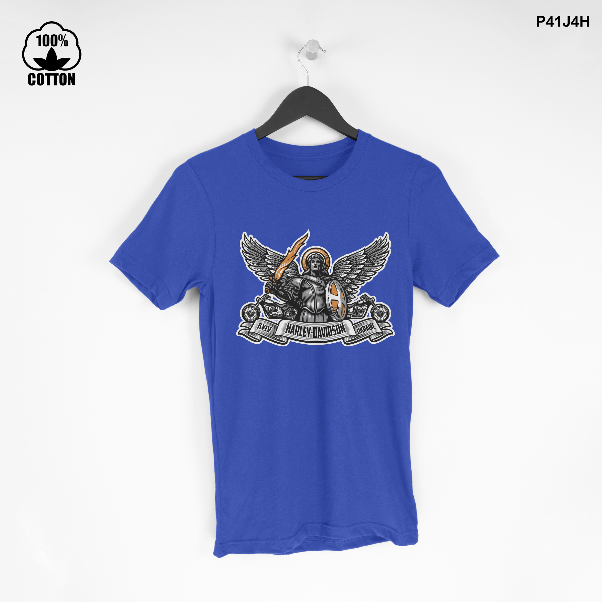 LIMITED EDITION!! kiev-logo-harley-davidson-dealer-motorcycle T Shirt Tee Dodger Blue.jpg