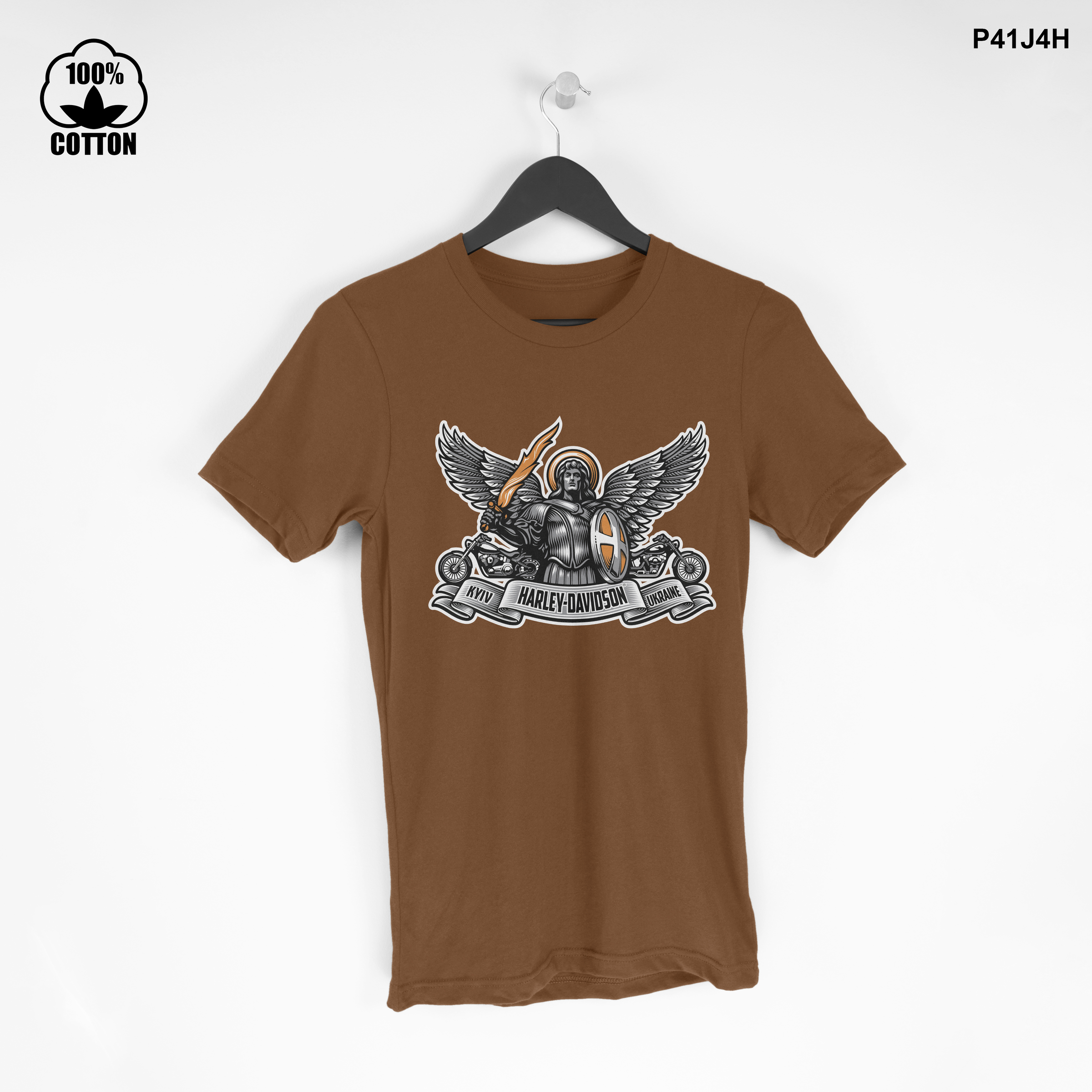 LIMITED EDITION!! kiev-logo-harley-davidson-dealer-motorcycle T Shirt Tee Saddle Brown.jpg