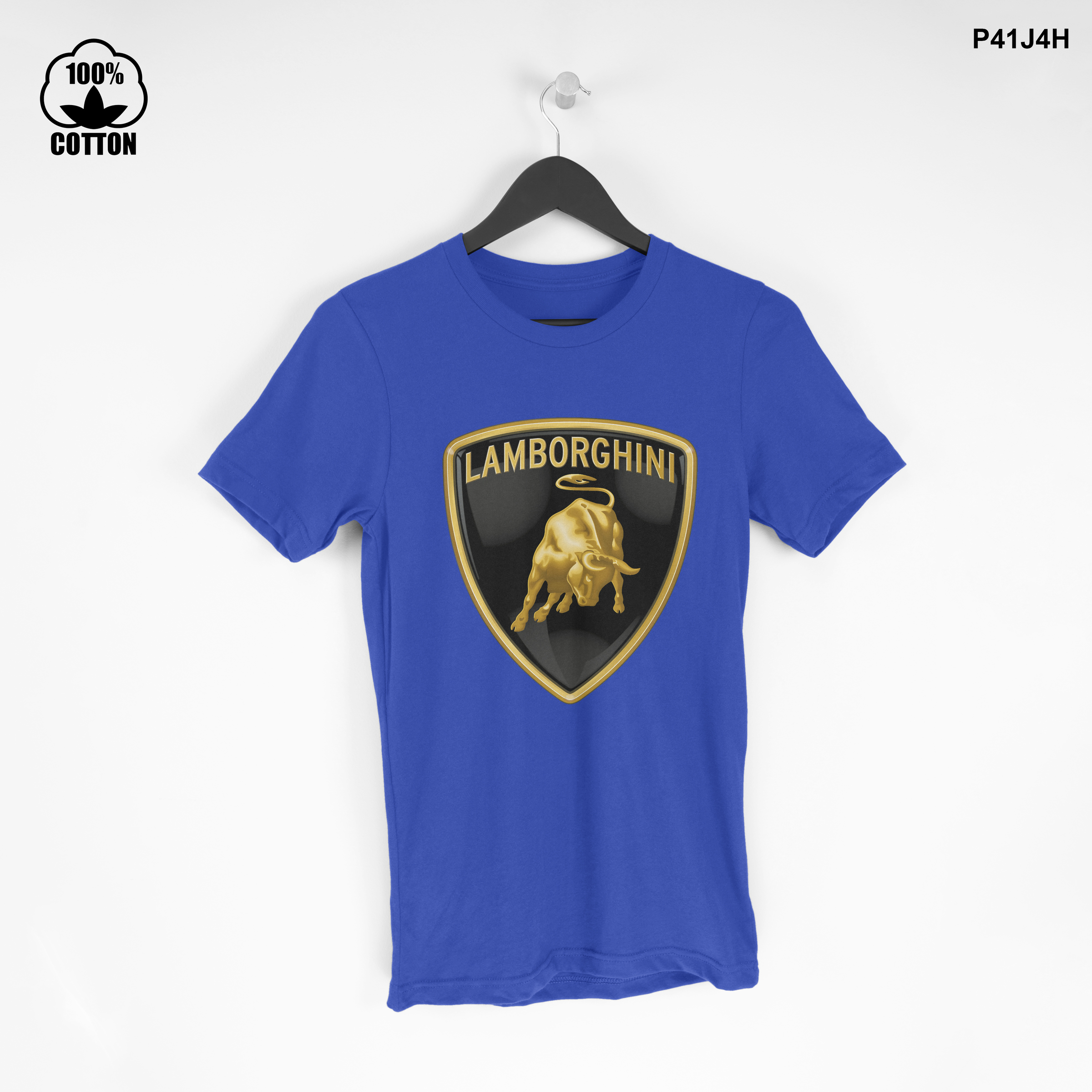 LIMITED EDITION!! Lamborghini-logo T Shirt Tee Dodger Blue.jpg