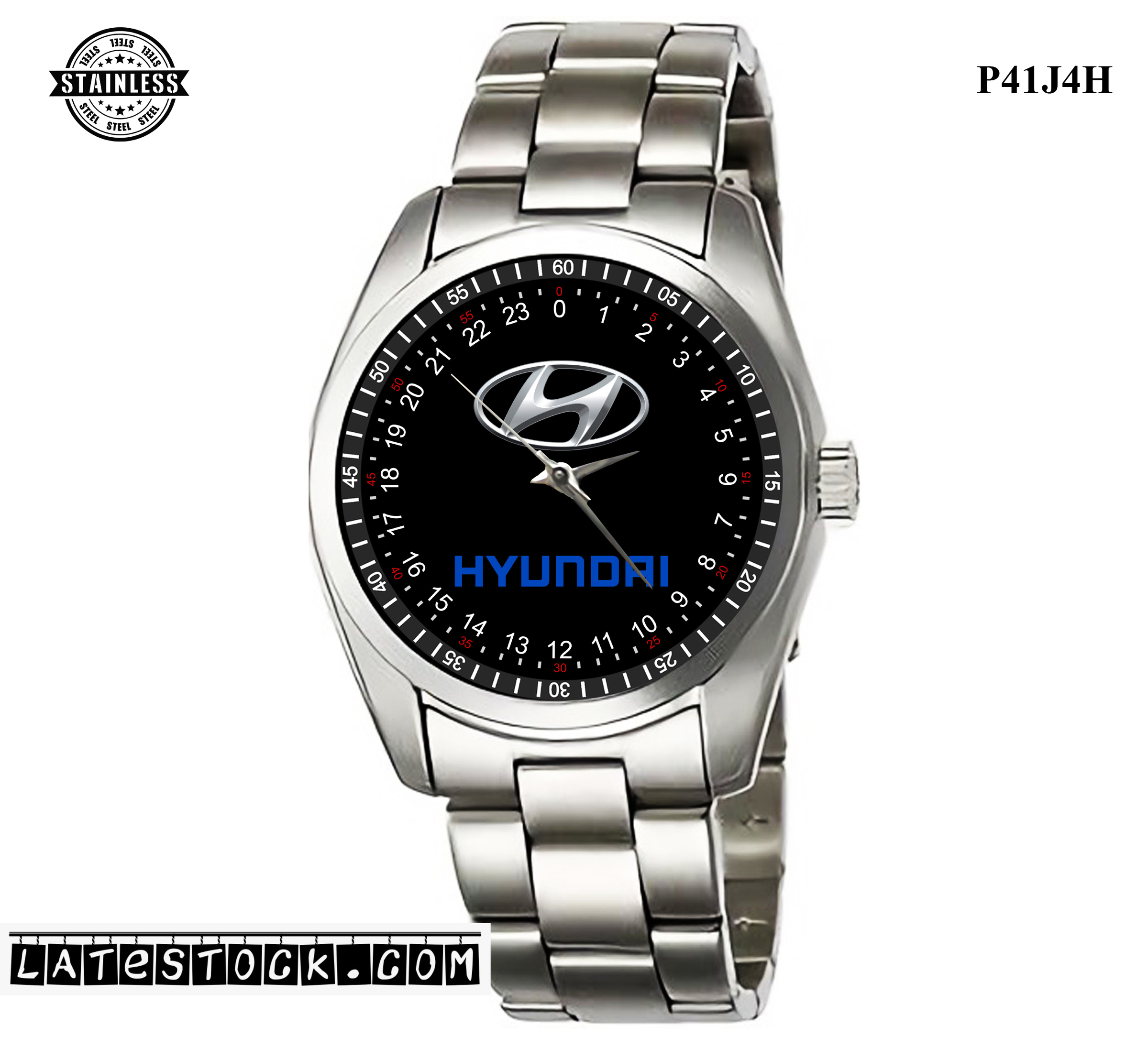 LIMITED EDITION!! Hyundai Logo steel Sport Metal Watch b.jpg