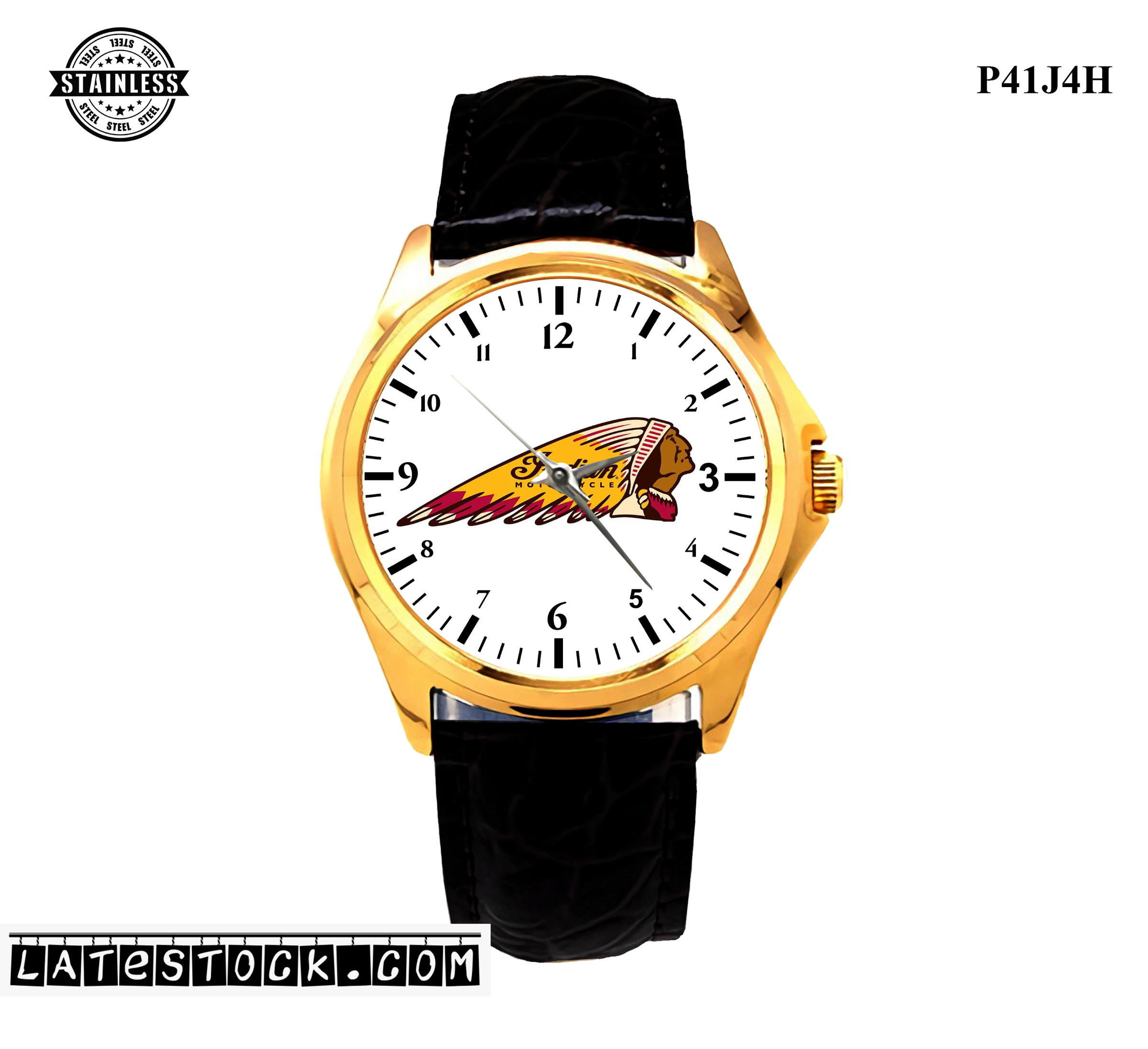 LIMITED EDITION!! indian logo motocycle Sport Metal Watch b.jpg