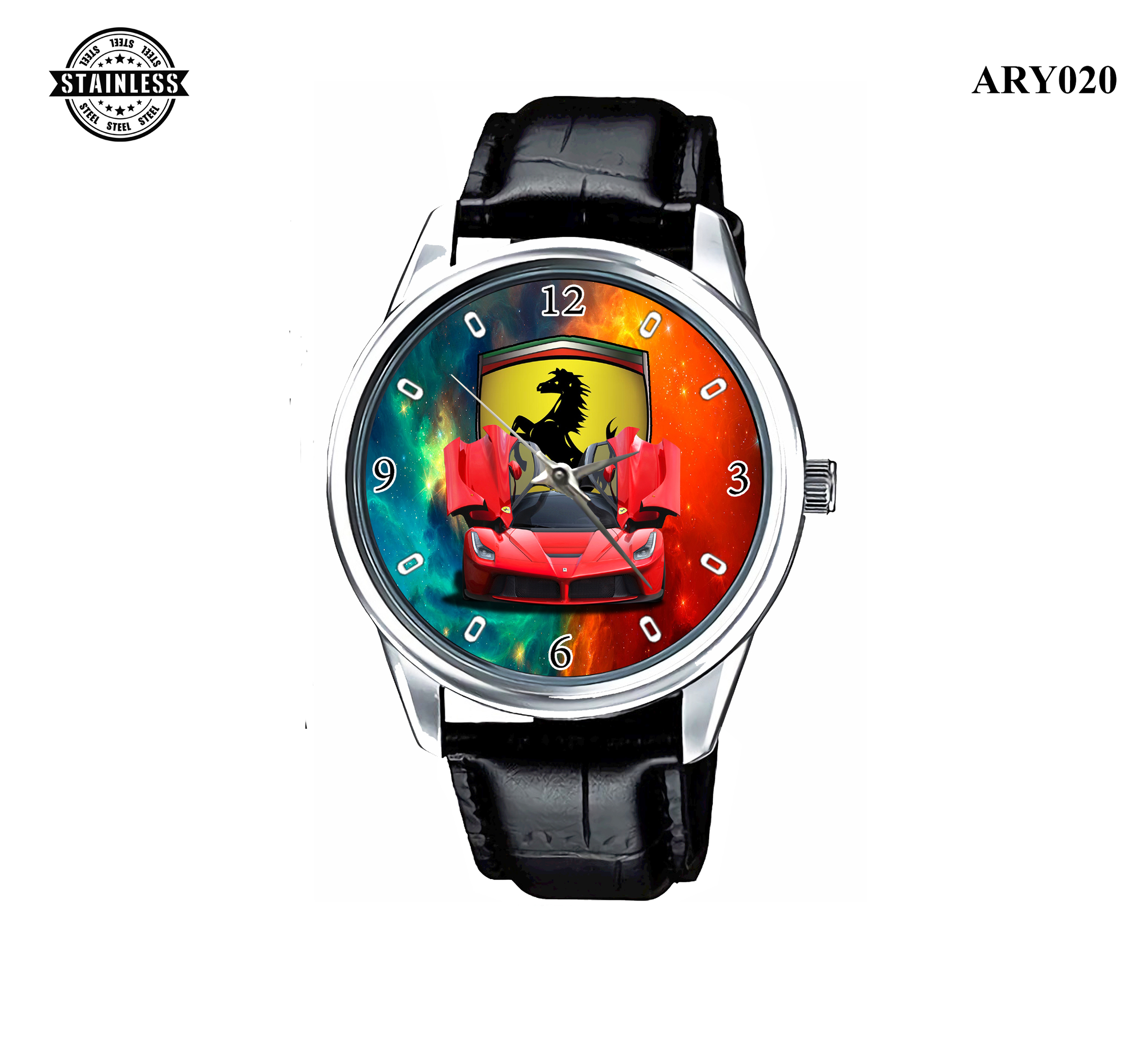 ARY020_Rare Reloj!!Ferrari Men Car_ Sport Metal Waches 3.jpg