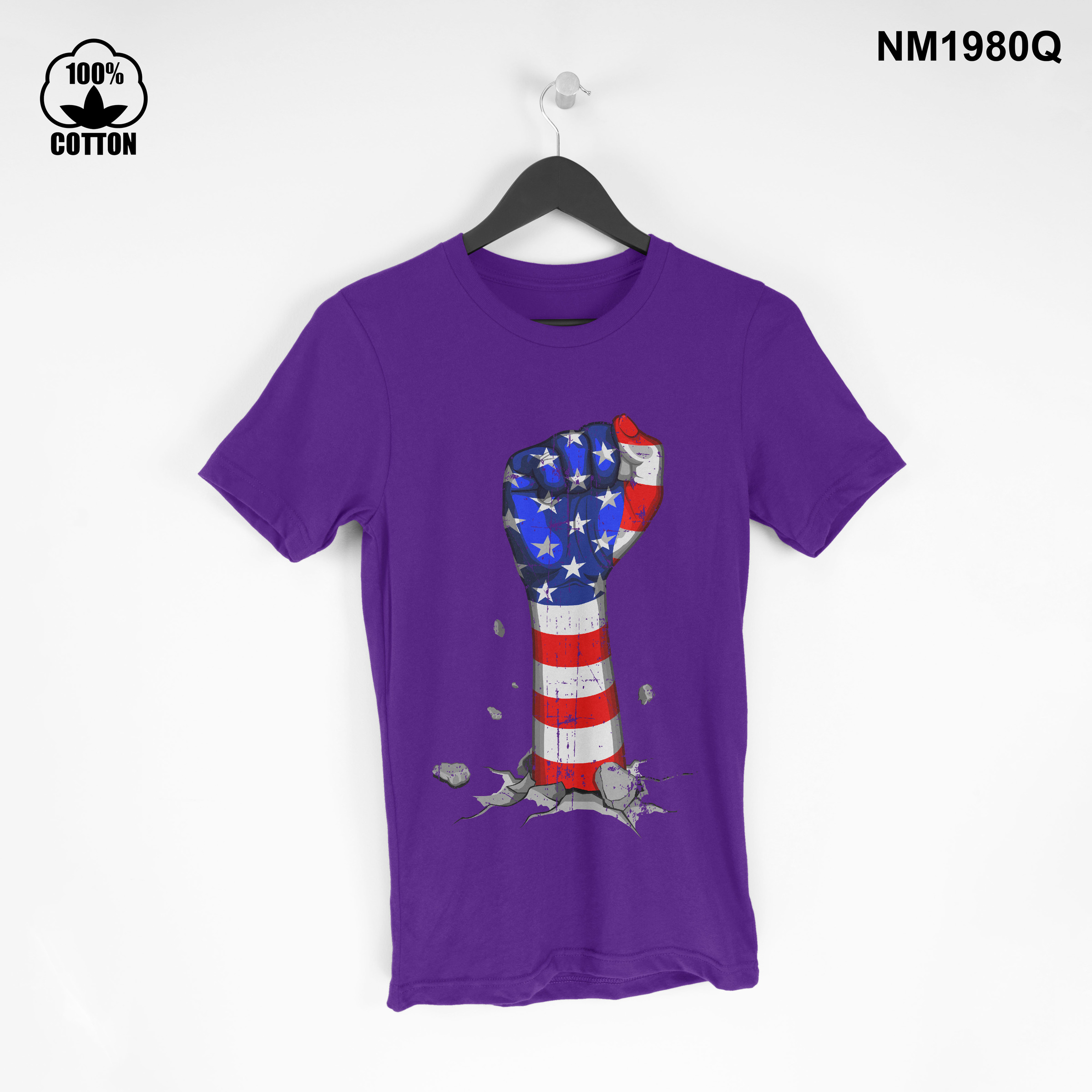 1.3 New Item independence day american Vintage T Shirt tee Unisex Blue Violet.jpg