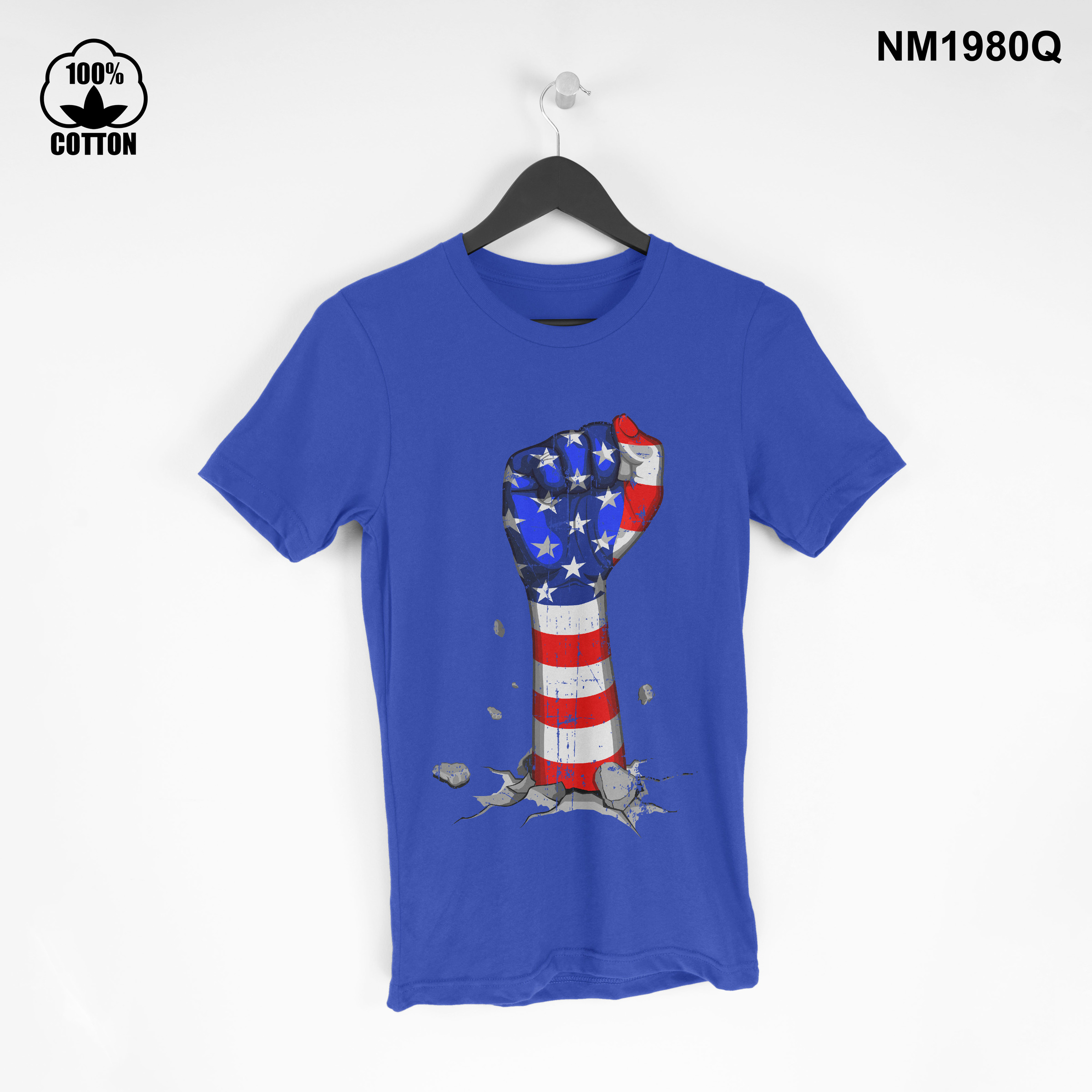 1.3 New Item independence day american Vintage T Shirt tee Unisex Dodger Blue.jpg