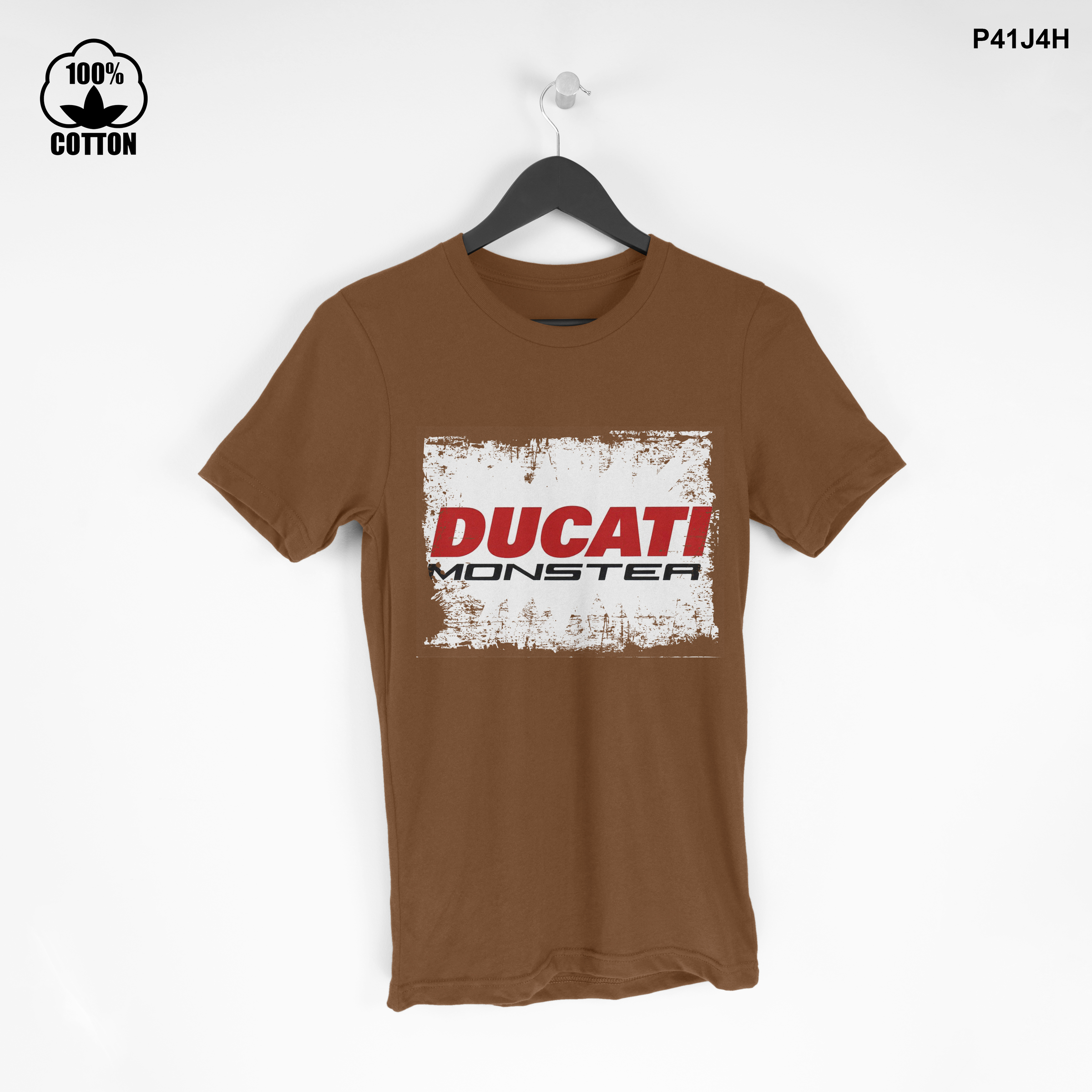 LIMITED EDITION!! Ducati Monster T Shirt Tee Men's Saddle Brown.jpg