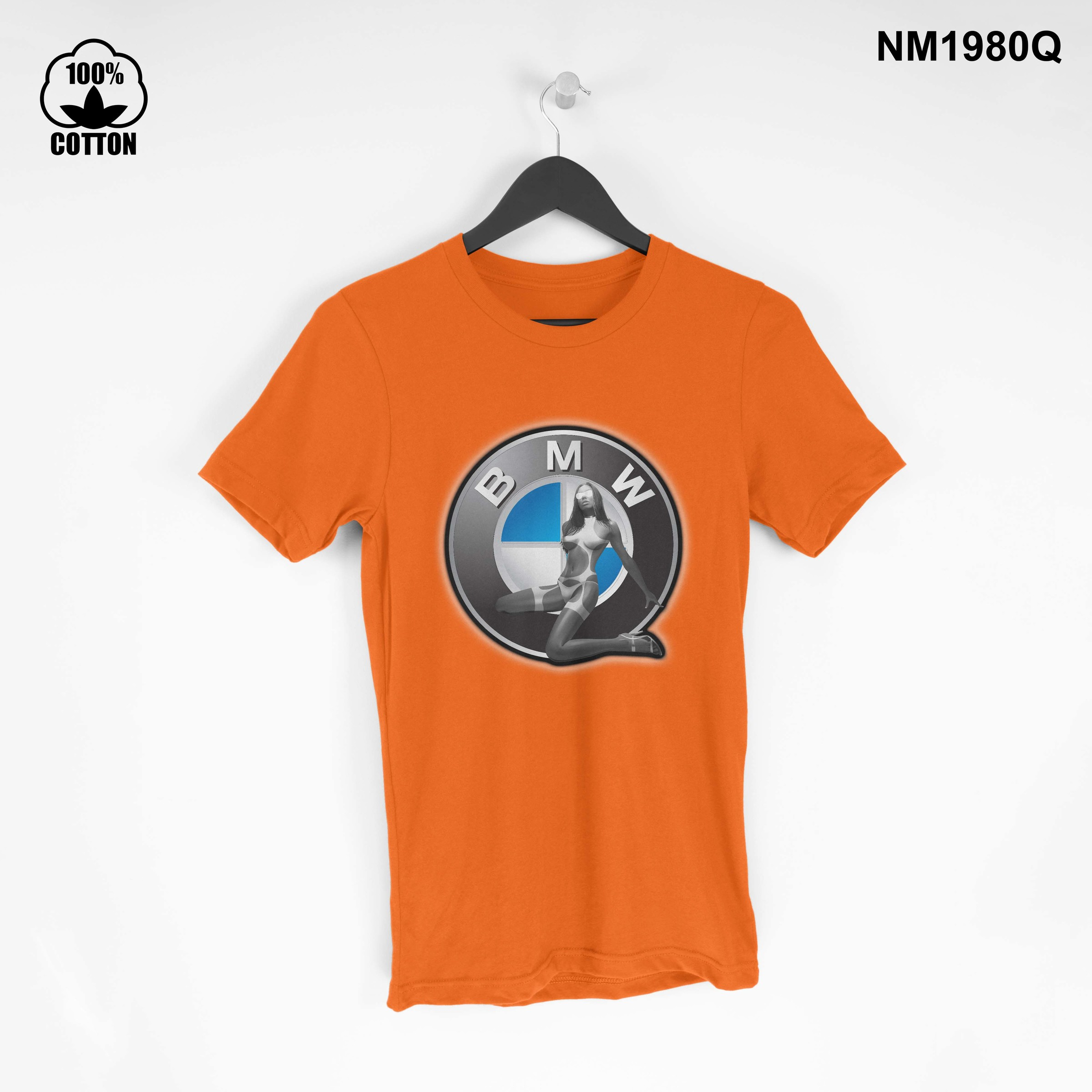 1.27 new design T Shirt Tee BMW sexy girl Short Sleeve Mens Clothing Orange.jpg