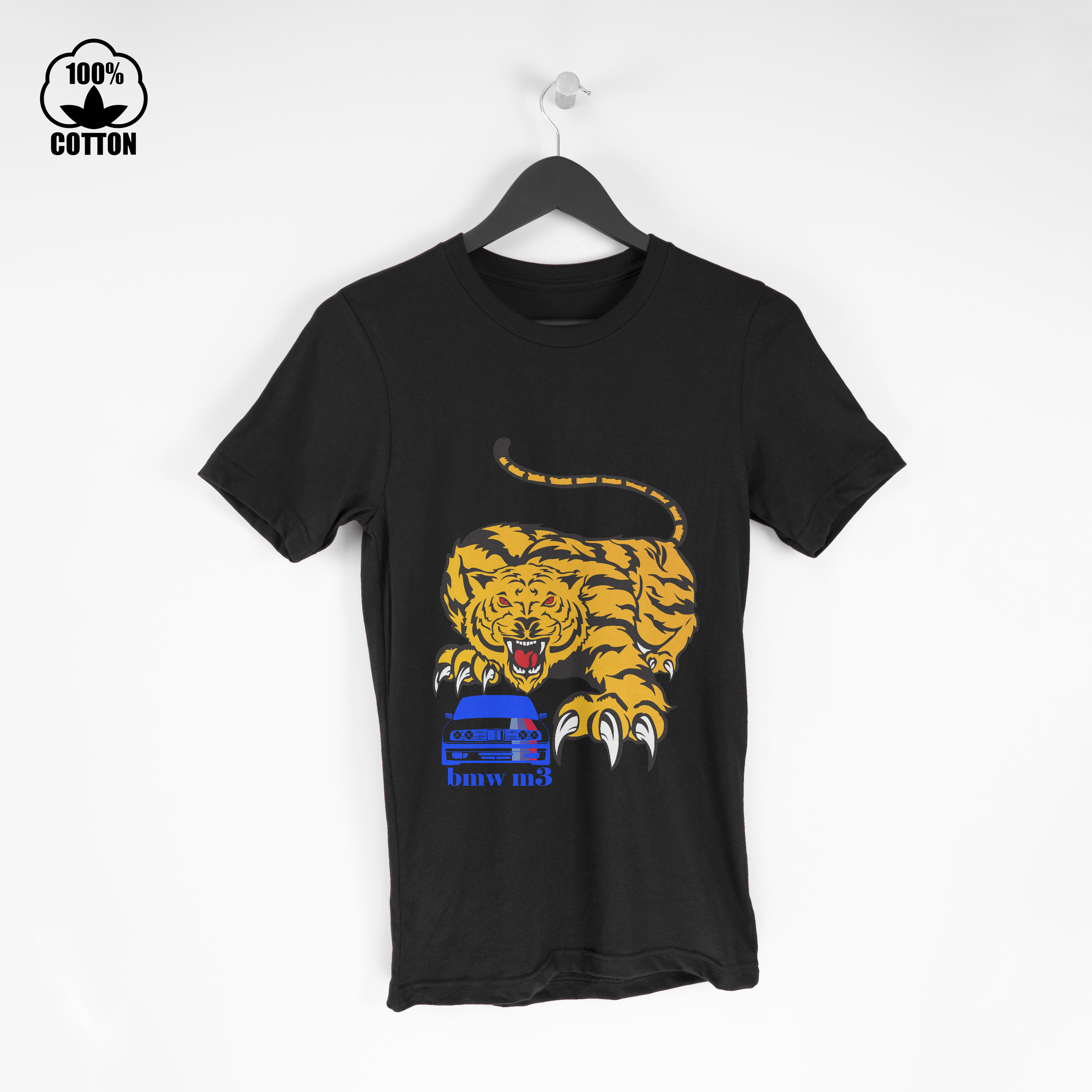 Bmw M3 Super Power Tiger Logo Sport T-Shirt Tee Short Sleeve Size S To 3XL a.jpg