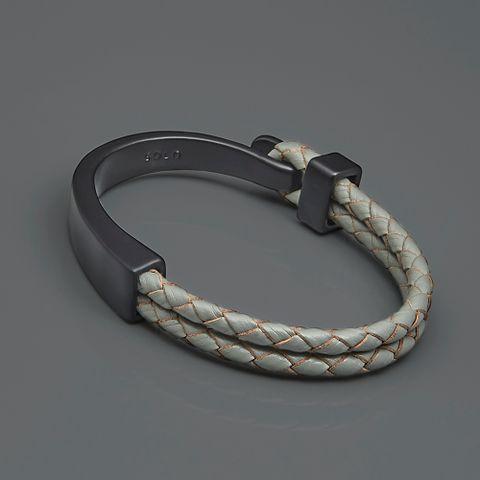 勾扣编织皮革手环-灰色2.jpg