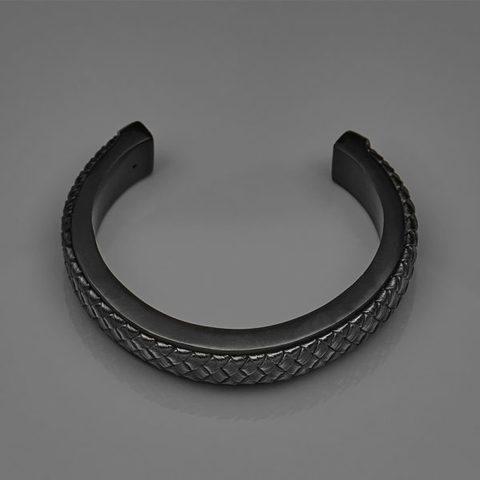 C型编织皮革手环黑色2-600x600.jpg