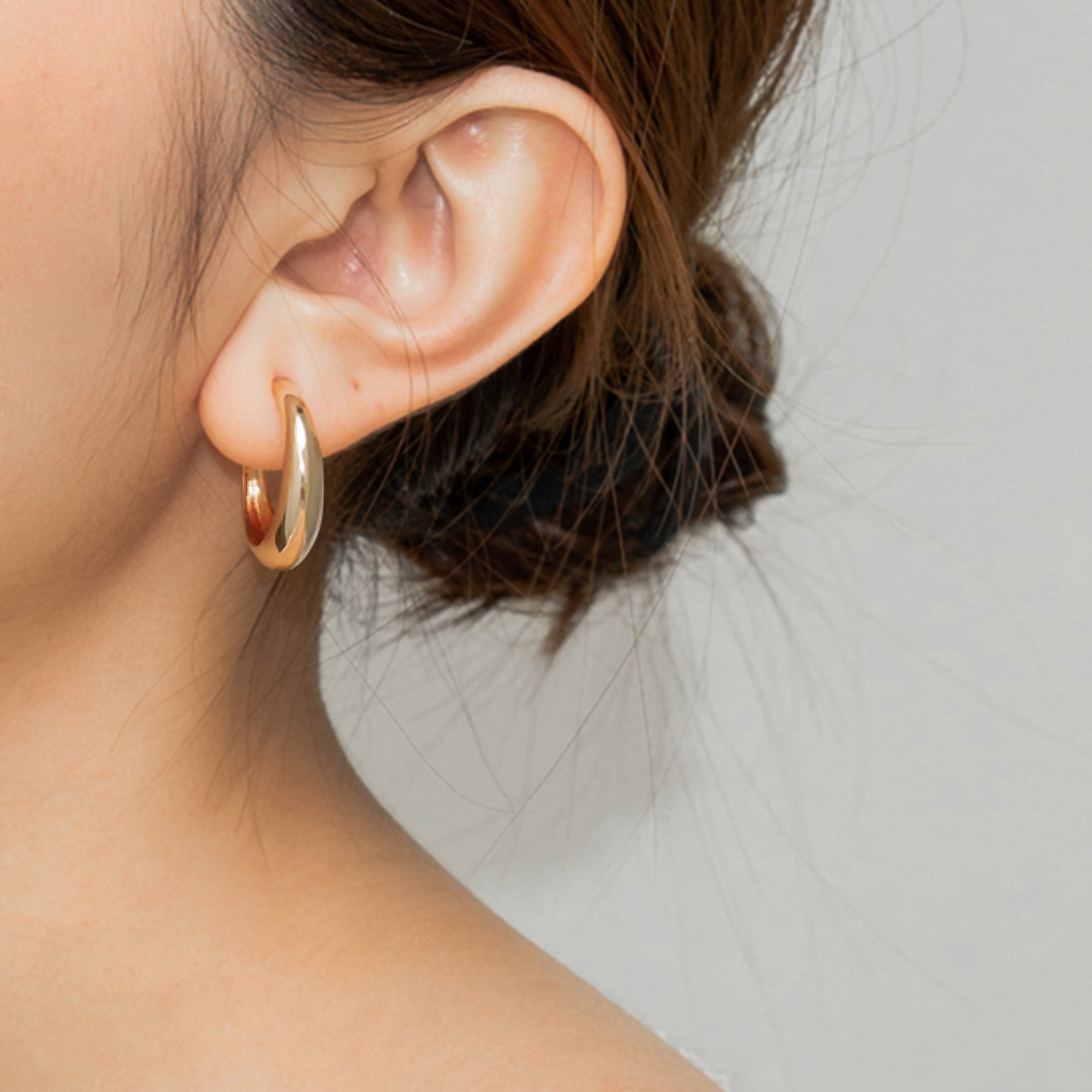 hoop earrings brass 18K gold plated