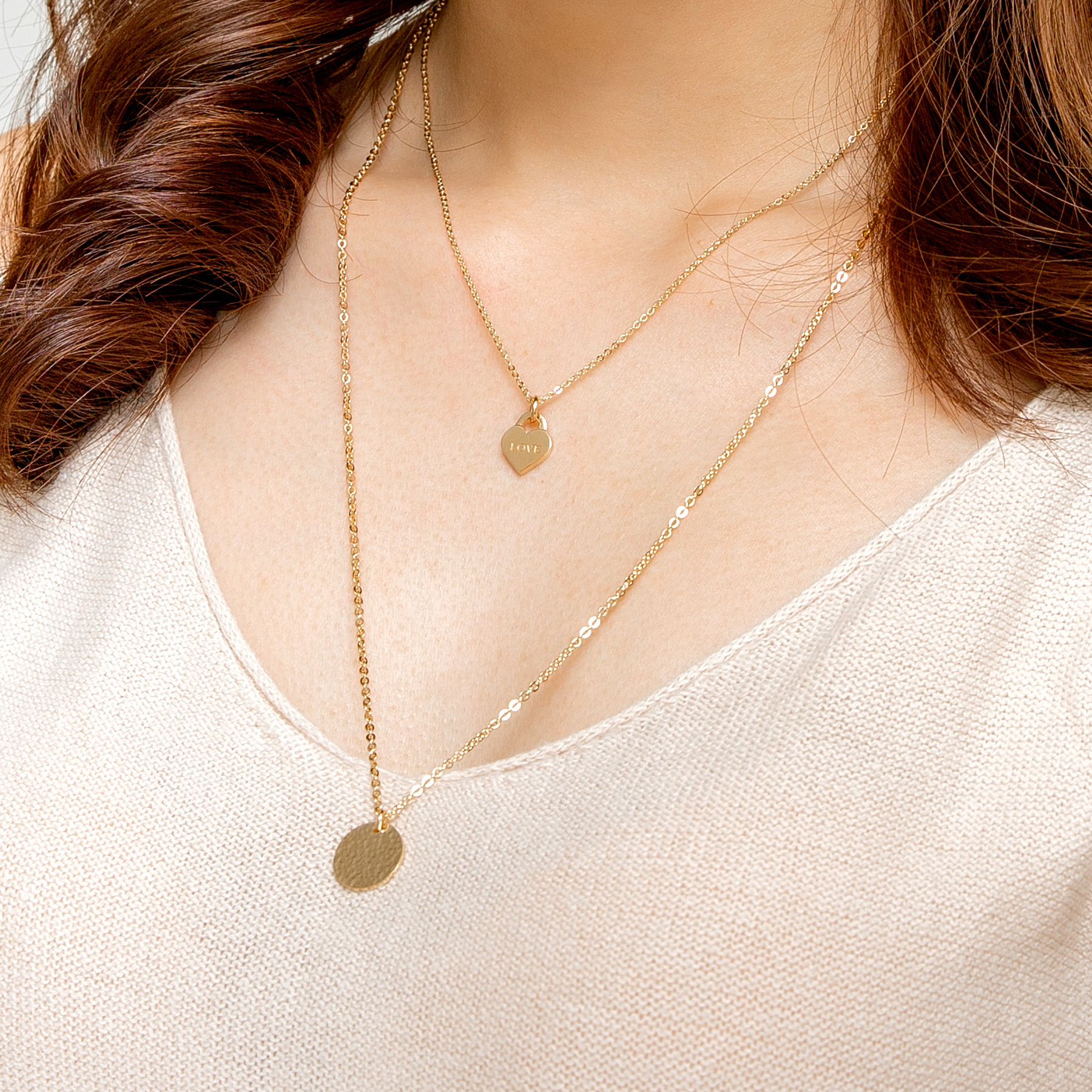 Love Lock Silver 18K Gold Plated Necklace