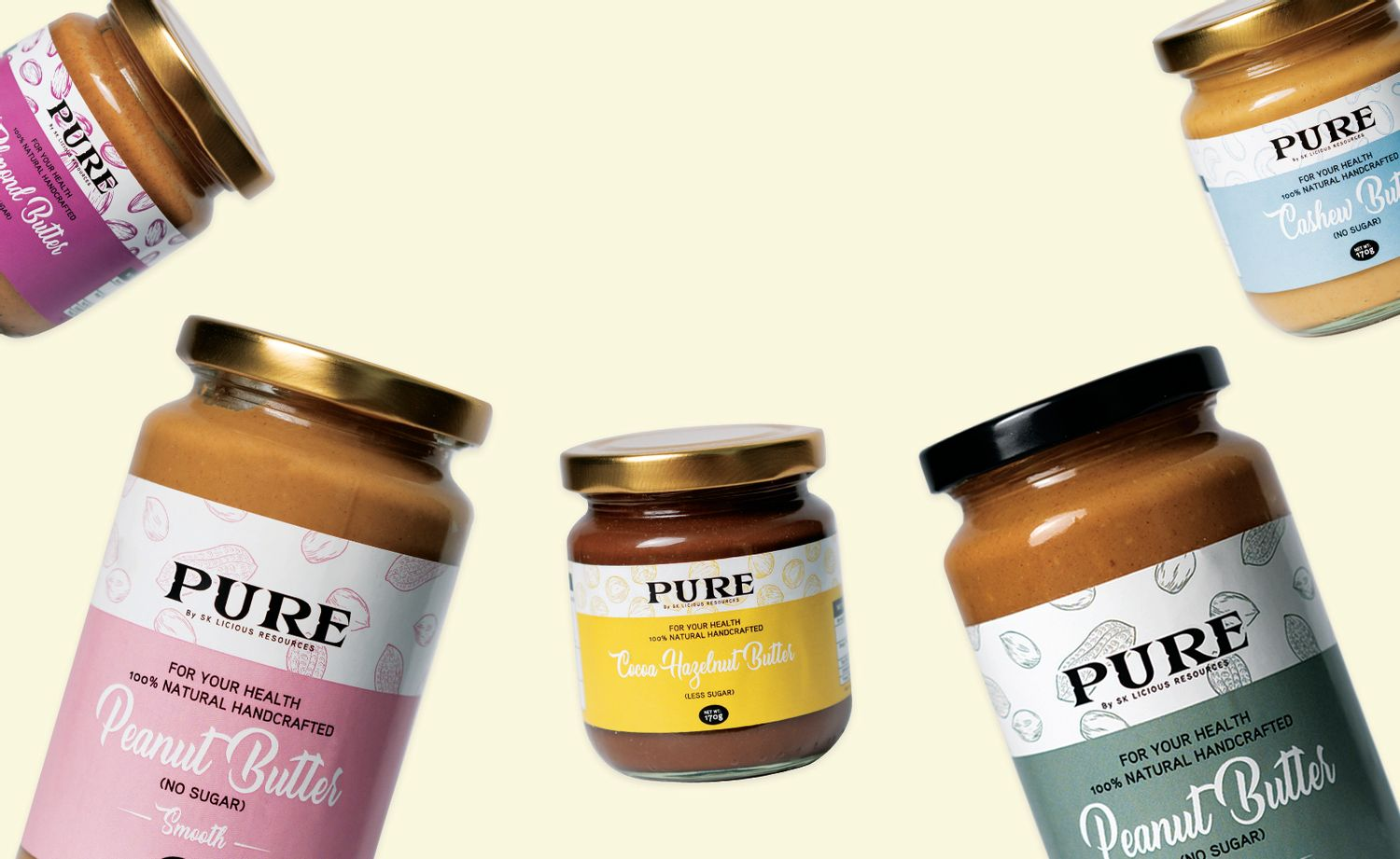 PURE Nut Spreads | 5 FLAVOURS