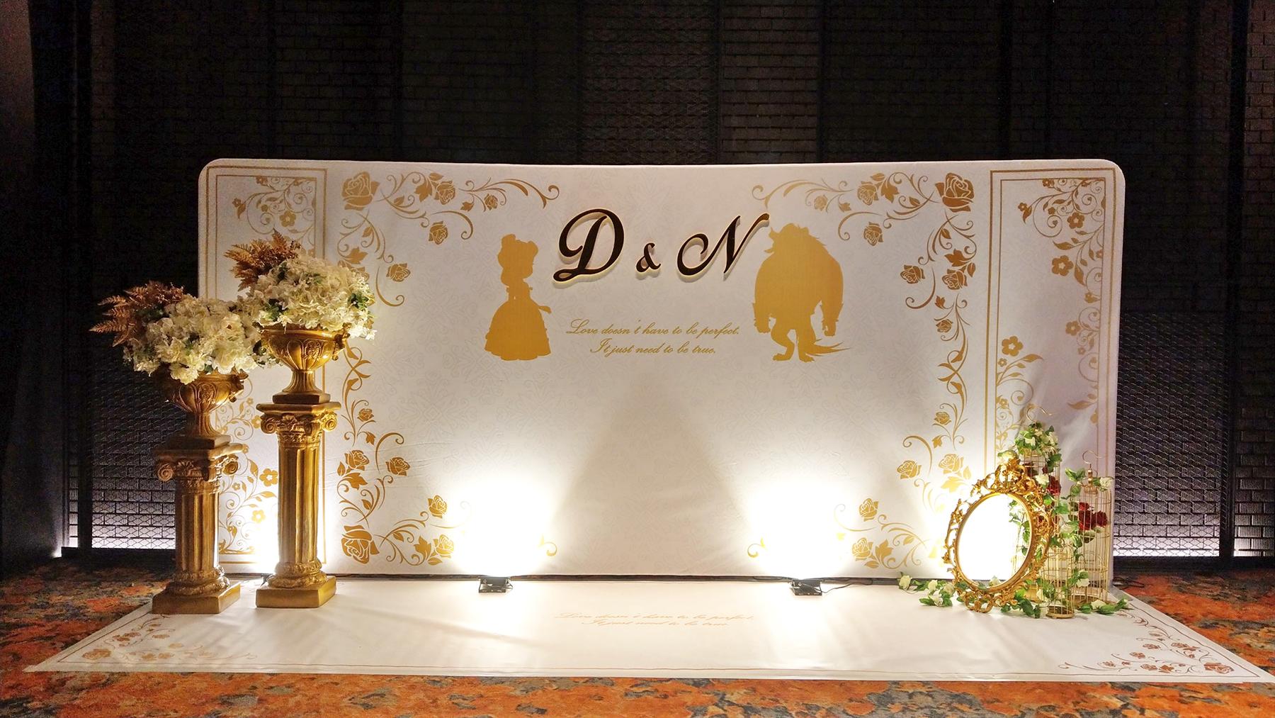 Urs主題婚禮佈置 / 客製婚禮小物 |  - 美女與野獸<br>婚禮佈置