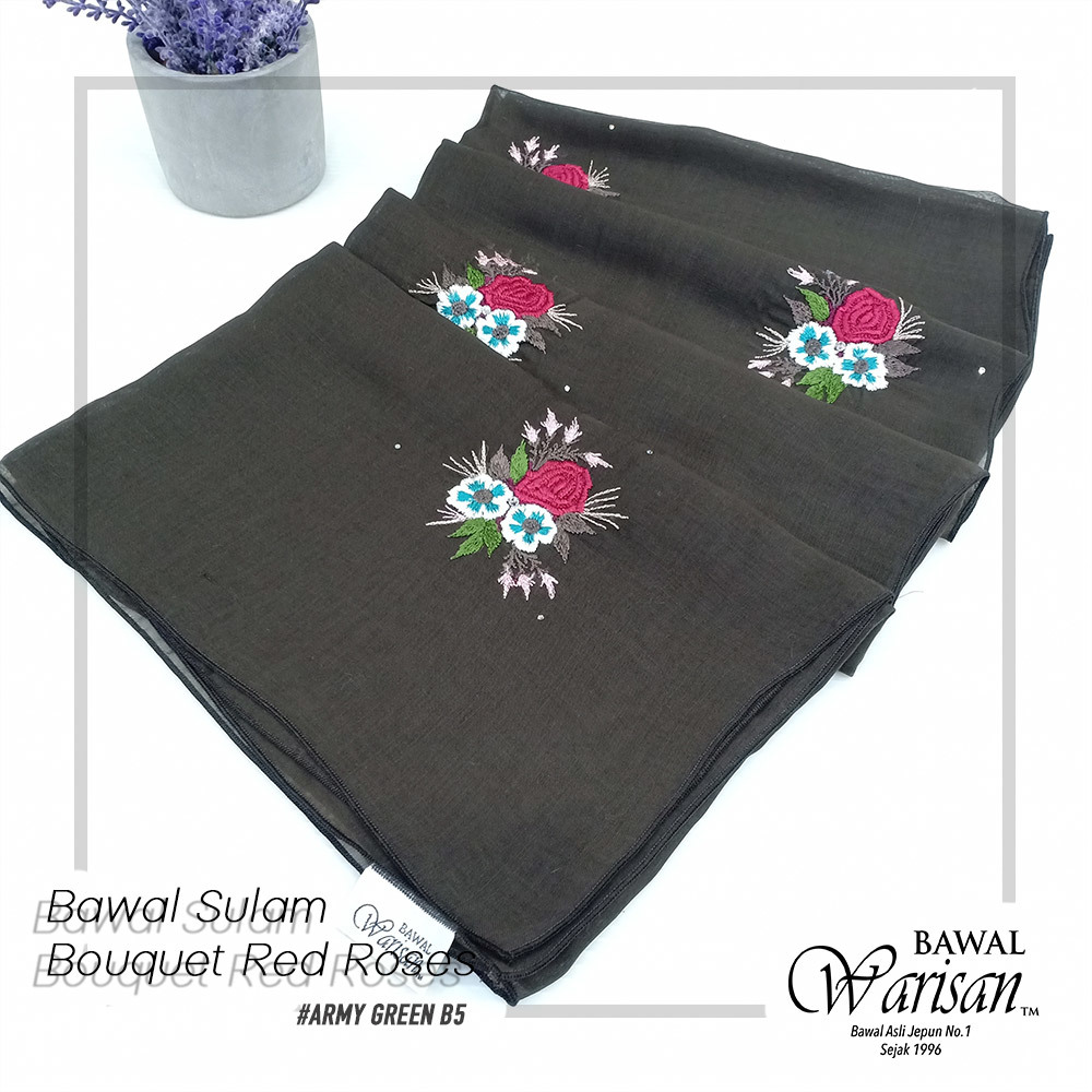 bw sulam bouquet red roses ARMY GREEN B5.jpg