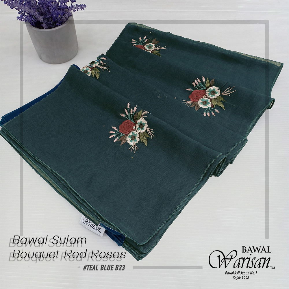 bw sulam bouquet red roses TEAL BLUE B23.jpg