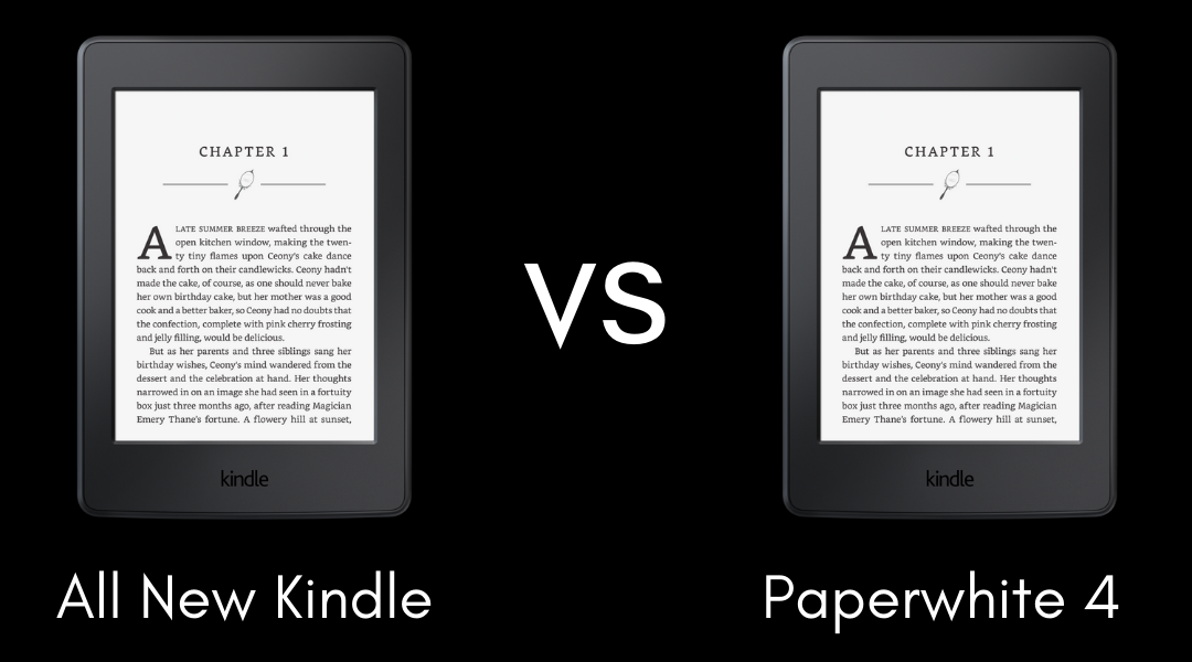 All New Kindle vs Paperwhite 4