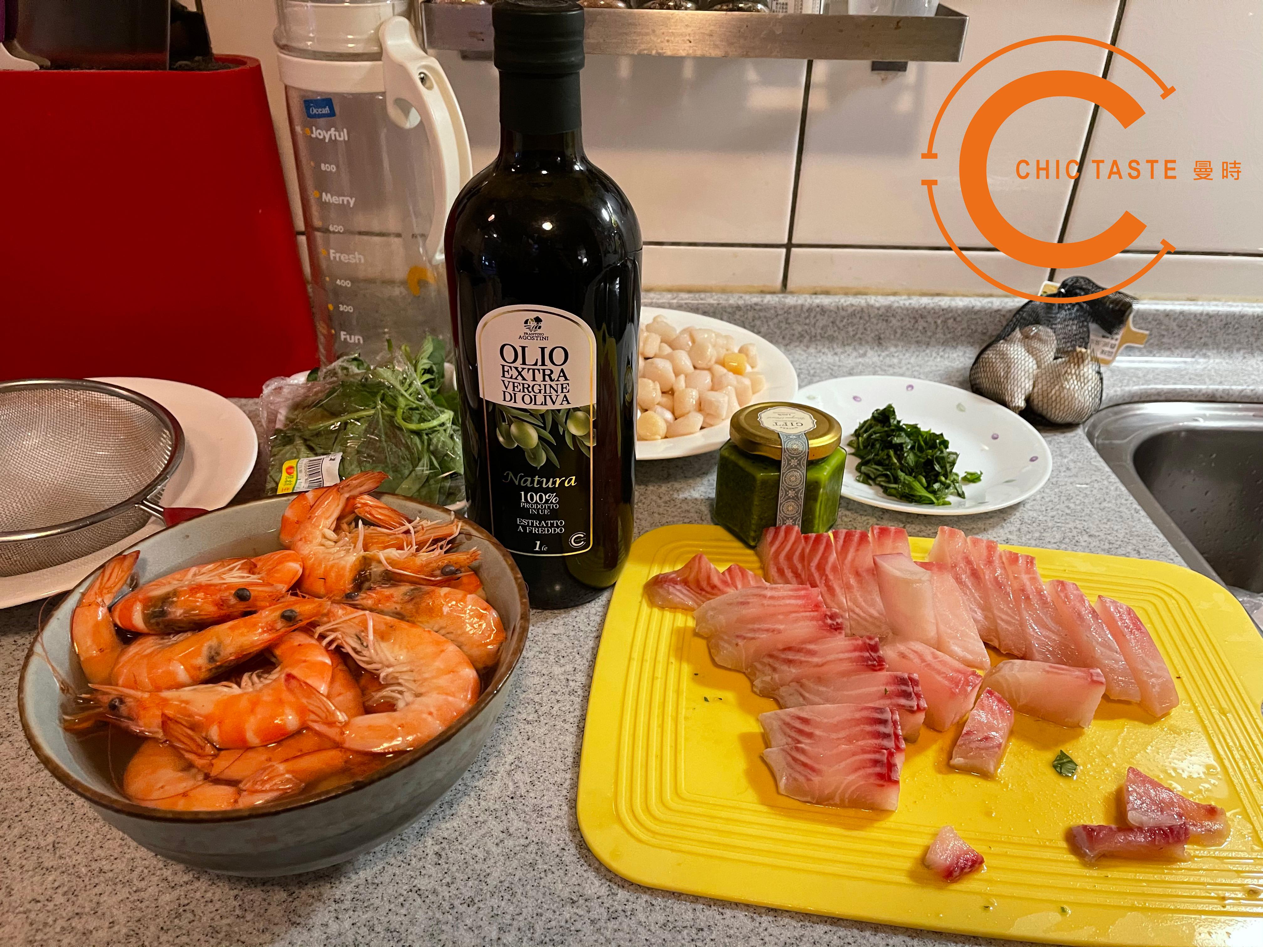 曼時創意食譜-青醬葵菇海鮮燉飯1.jpg