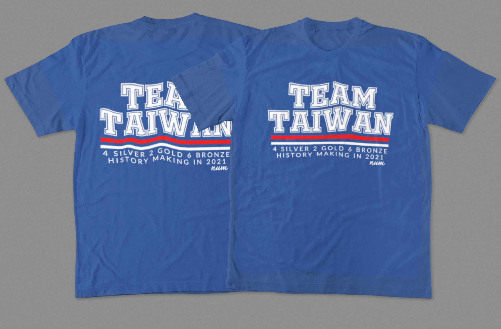 front-and-back-mockup-of-two-t-shirts-laying-flat-on-a-plain-surface-1380-el.png