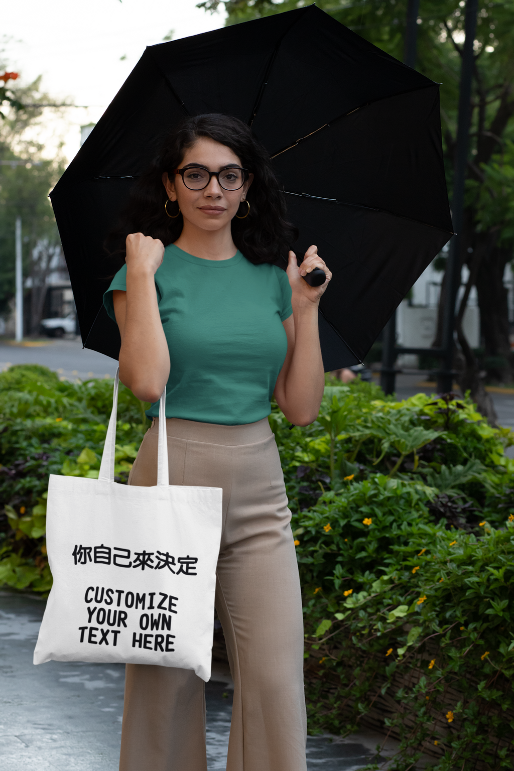 t-shirt-mockup-of-a-woman-with-a-tote-bag-on-a-rainy-day-29414.png