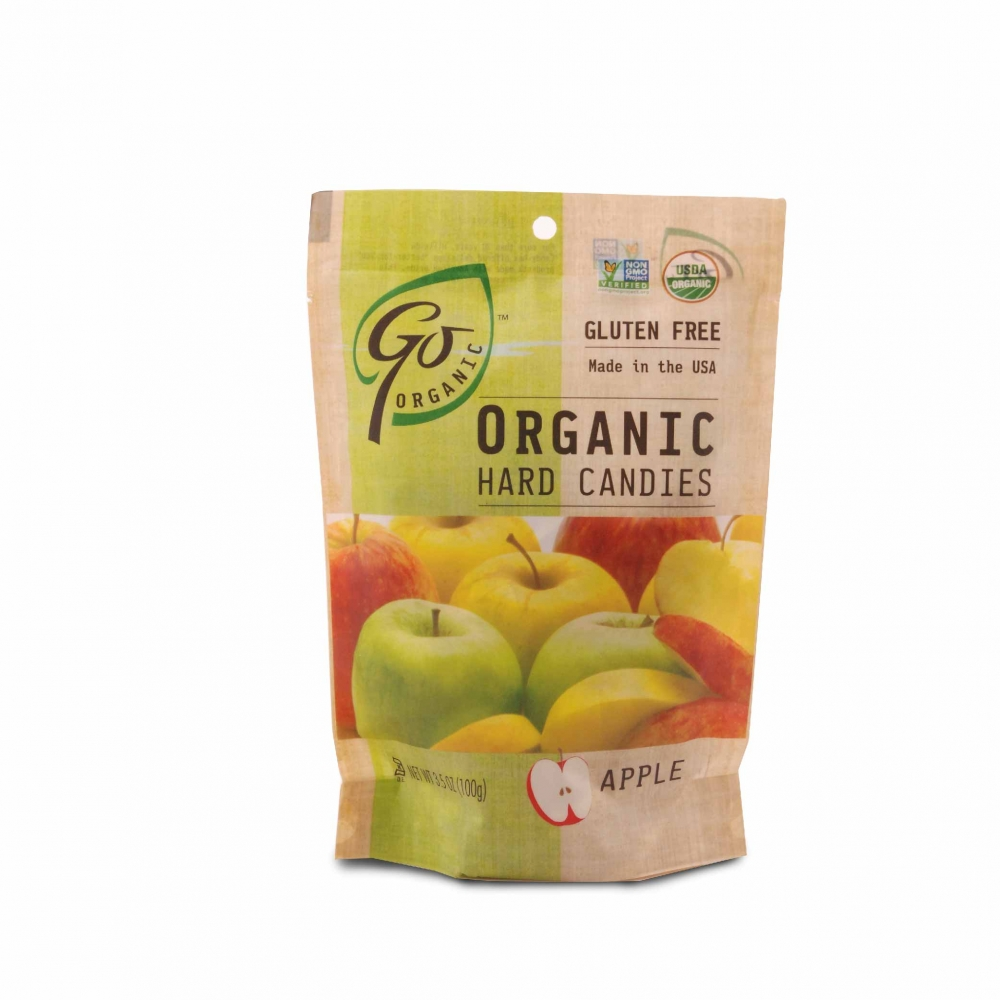 GO NATURALLY-Hard Candies Apple (3.5oz/104g)