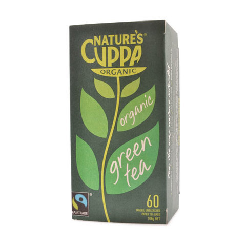 NATURE'S CUPPA-Organic Green Tea (60 Tea Bags)