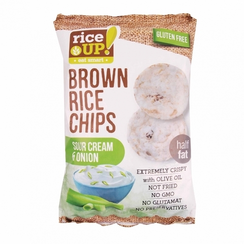 RICE UP-Brown Rice Chips (Sourcream and Onion) (60g)