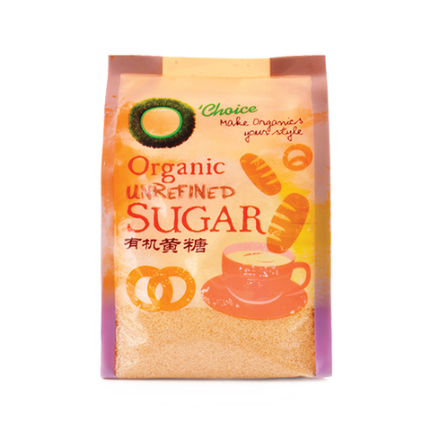 O'CHOICE- Organic Unrefined Sugar (400g)