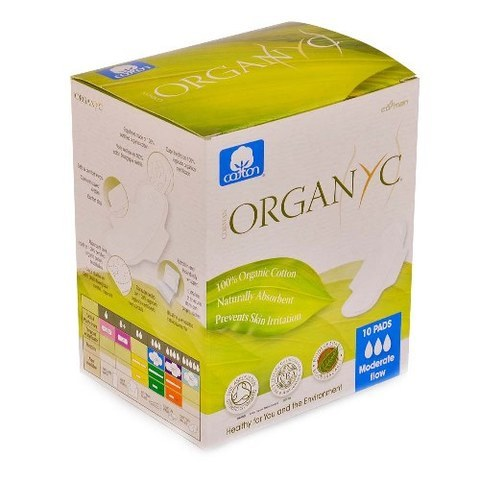 ORGANYC-Sanitary Pads Moderate Flow (10pcs)