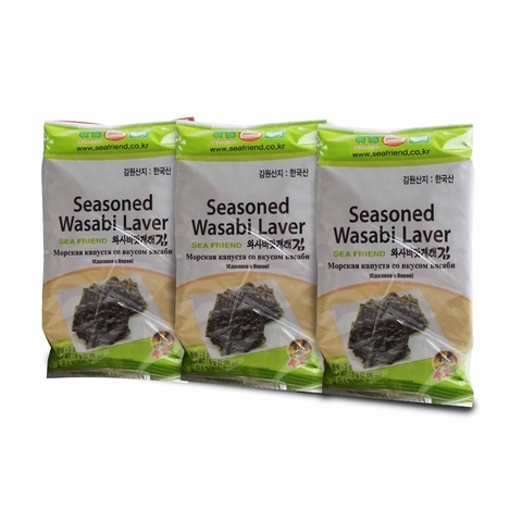 SEA FRIEND-Seasoned Wasabi Laver (3 x 5g)