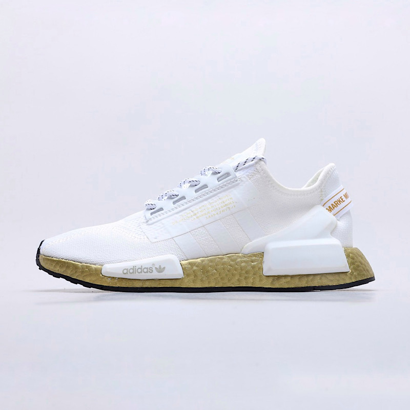Adidas Nmd R1 V2 Cloud White Gold Metallic Poison Sport