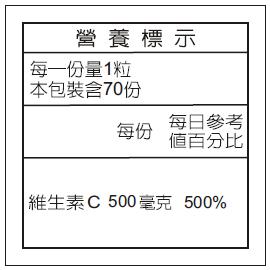 維生素C成分表