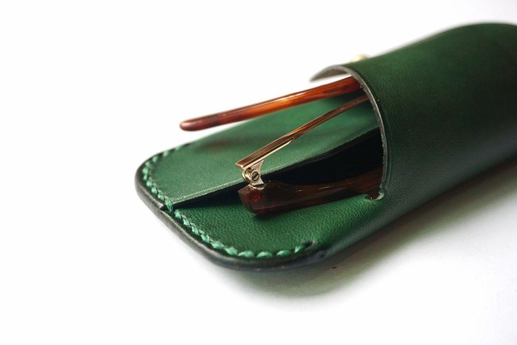 Sunglasses case - Forest green (1).jpg