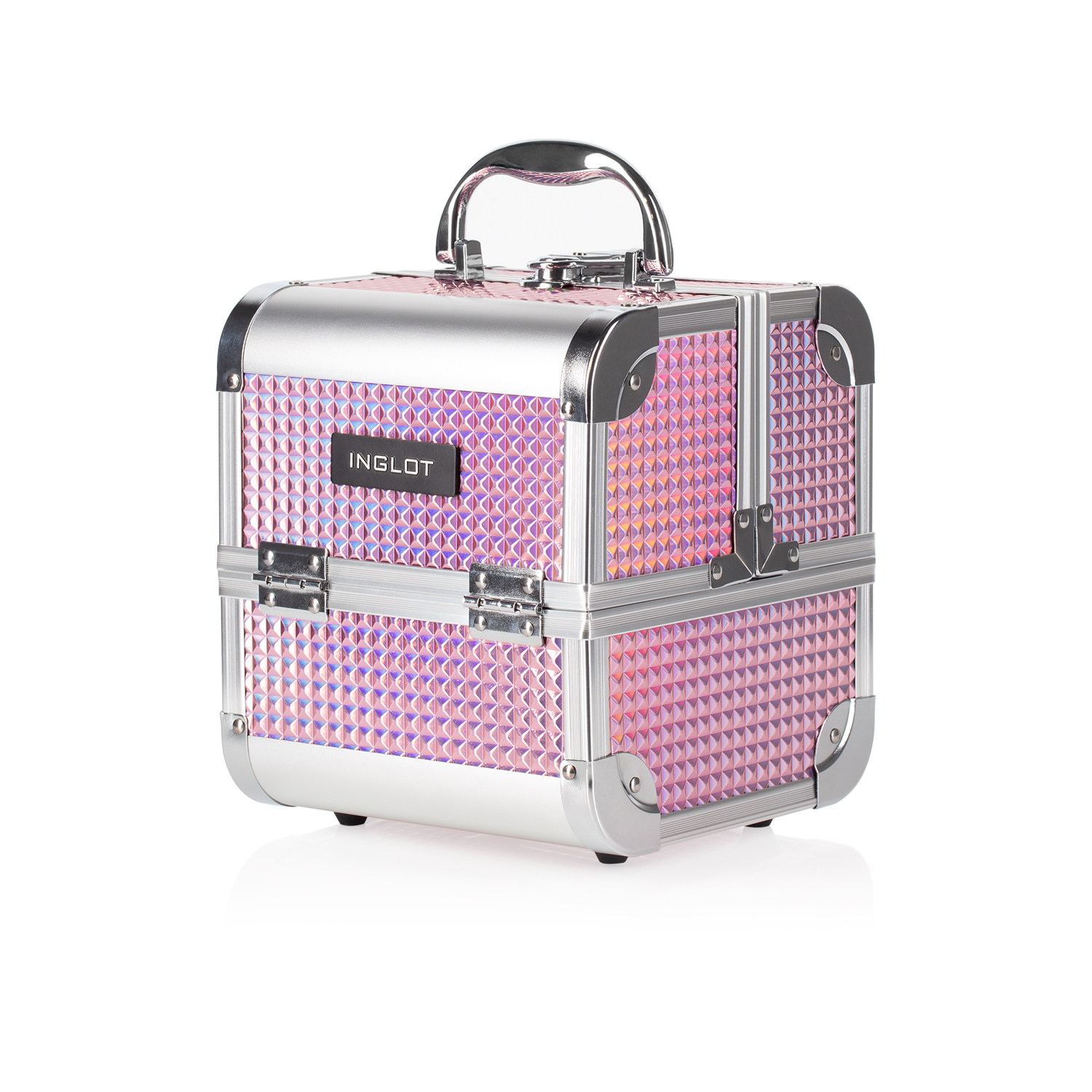 Makuep Case Ice Cube Mini Holographic Pink (MB152M K105-9H) 2.jpg