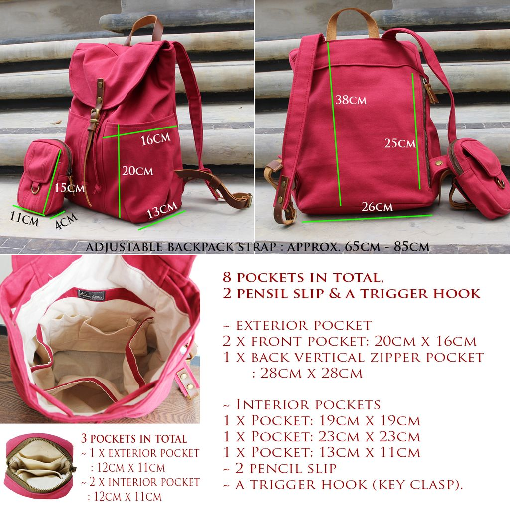 Leather Strap Kinies Backpack measurement and pockets.jpg