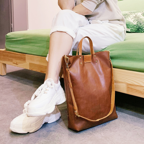 LEATHER Tote Sling Handheld Bag 6.jpg