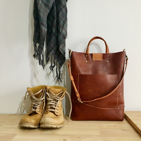 LEATHER Tote Sling Handheld Bag 8.jpg